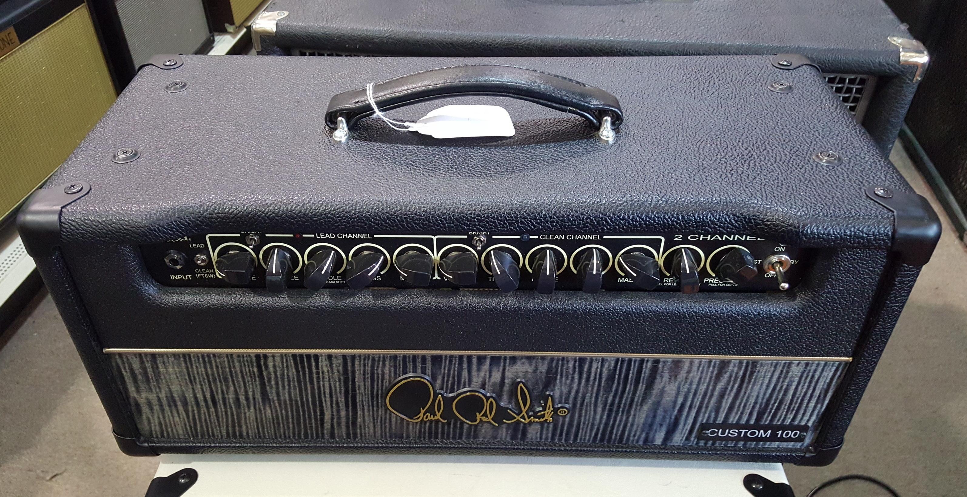 PAUL REED SMITH PRS CUSTOM 100 2-CHANNEL TUBE GUITAR AMP HEAD - BLACK CHARCOAL