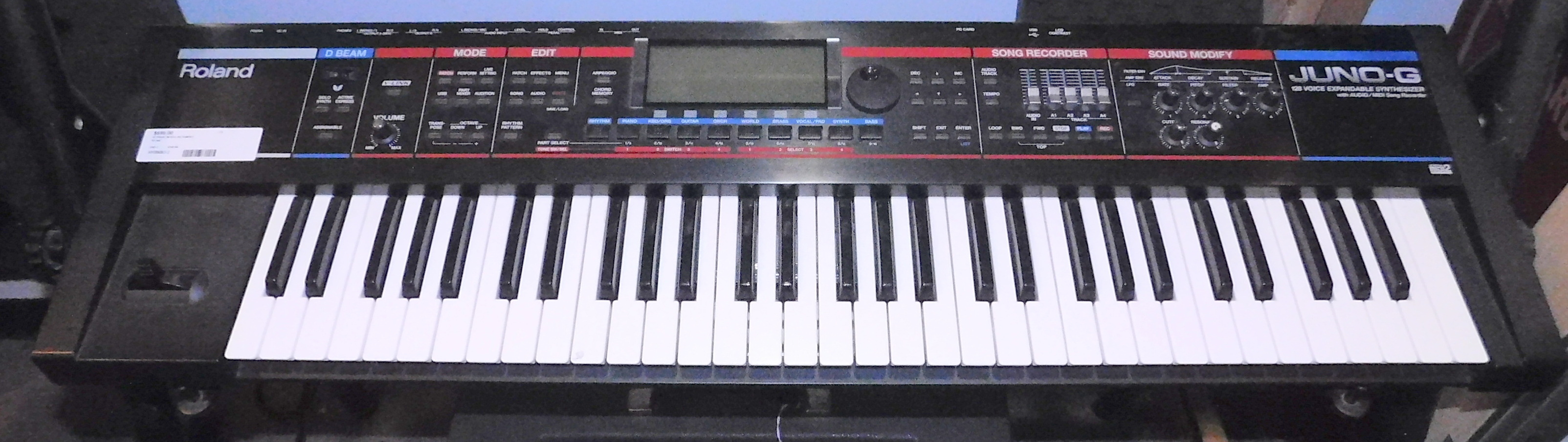 ROLAND JUNO-G 61 KEY Keyboard SYNTHESIZER w/POWER SUPPLY