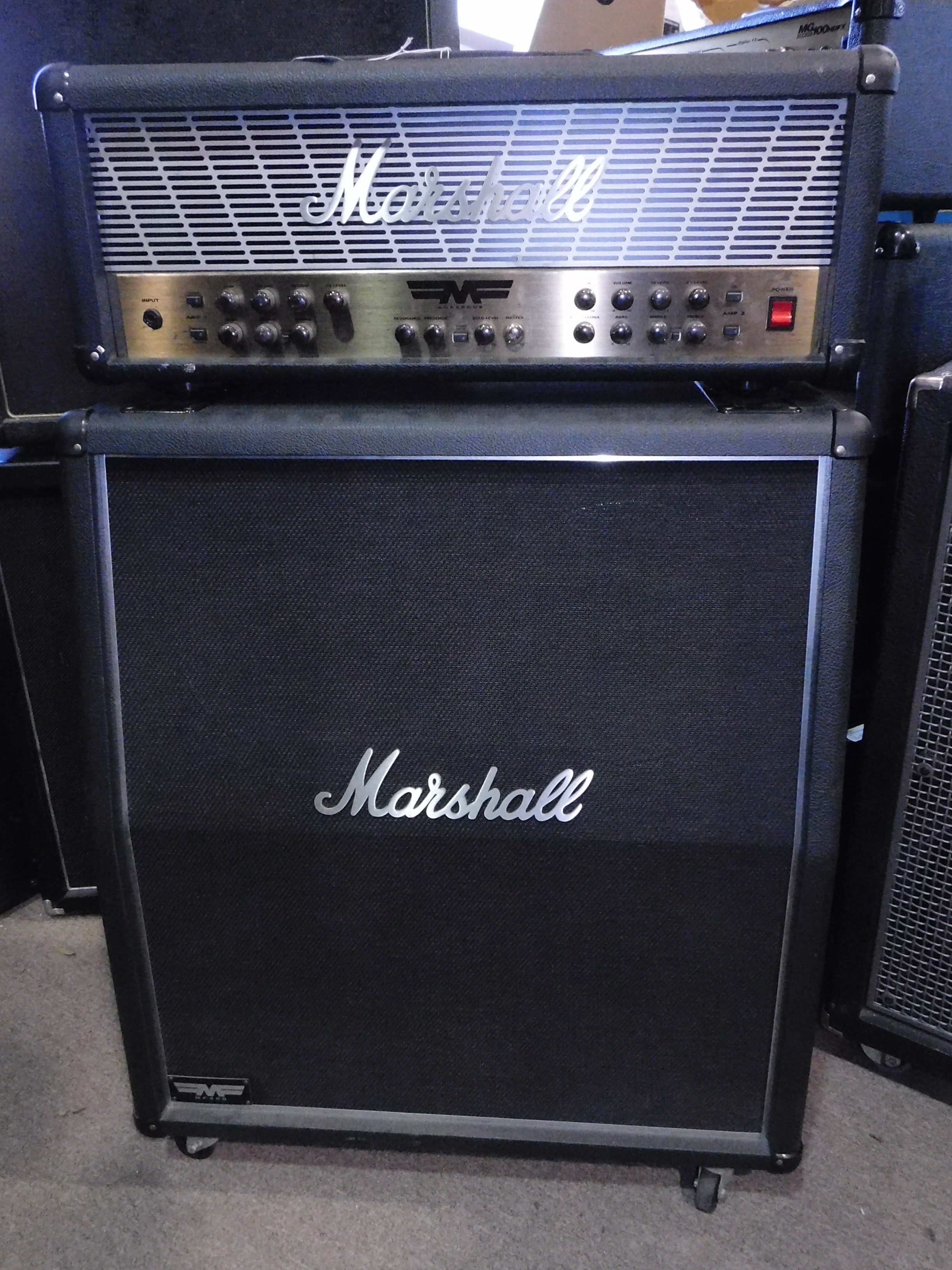 MARSHALL MF350 MODE 4 HALF STACK w/Matching MF400 4x12 Marshall Cab!!