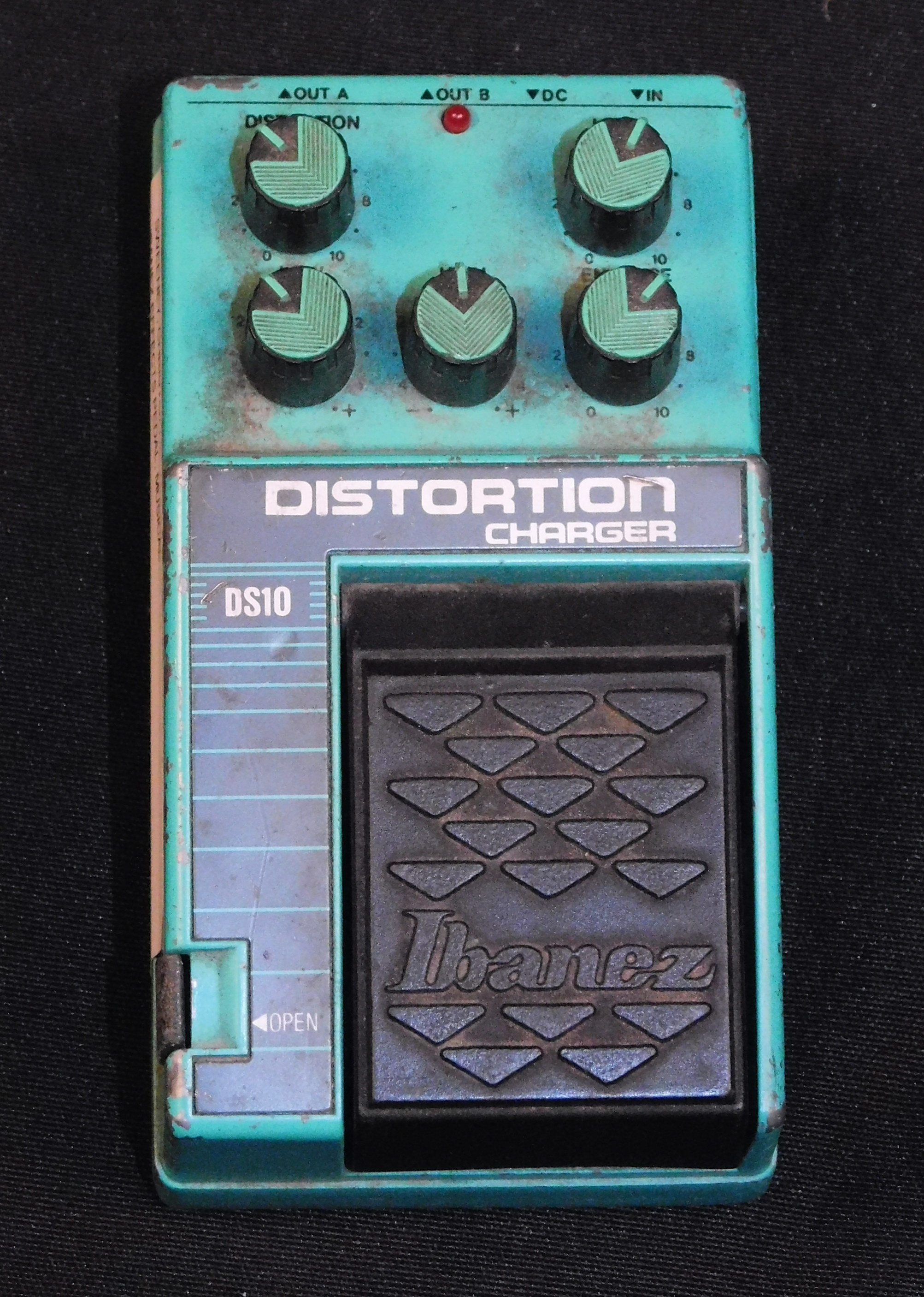 IBANEZ DS10 DISTORTION CHARGER EFFECTS PEDAL DS-10 FULLY TESTED