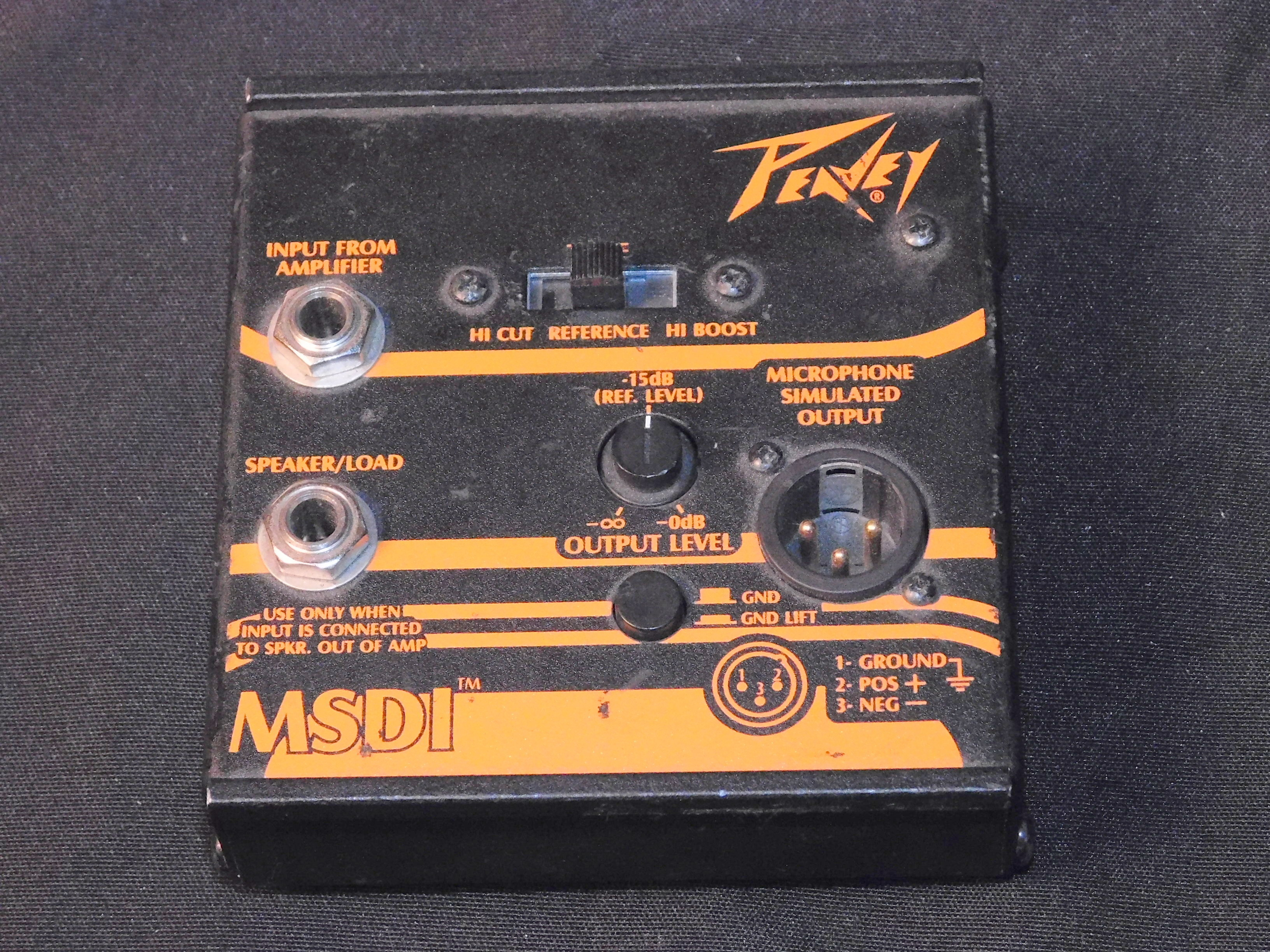 Peavey MSDI Microphone Simulated Direct Interface W/ Tone Selector DI BOX