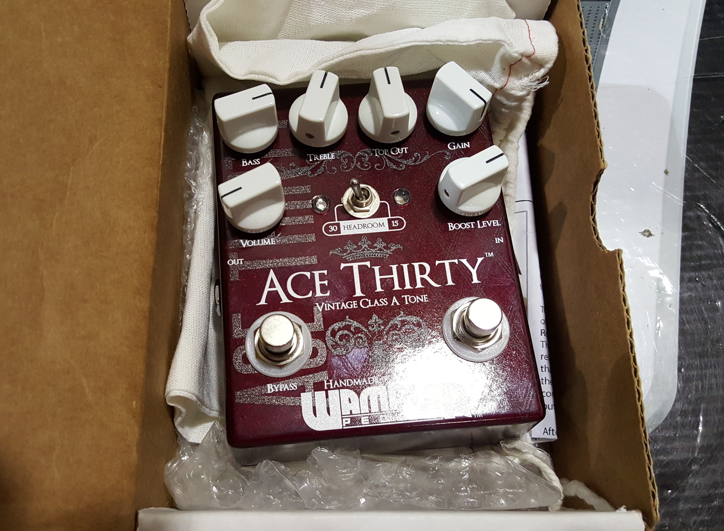 WAMPLER ACE THIRTY Overdrive Guitar Effects FX Pedal