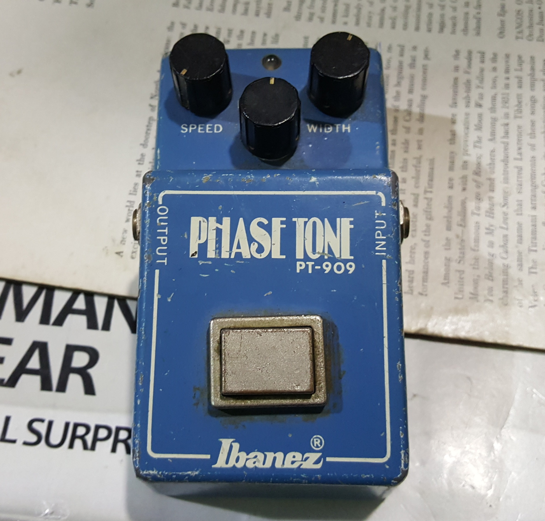 VINTAGE IBANEZ PHASE TONE PT-909 Phaser Guitar Effects Fx Pedal