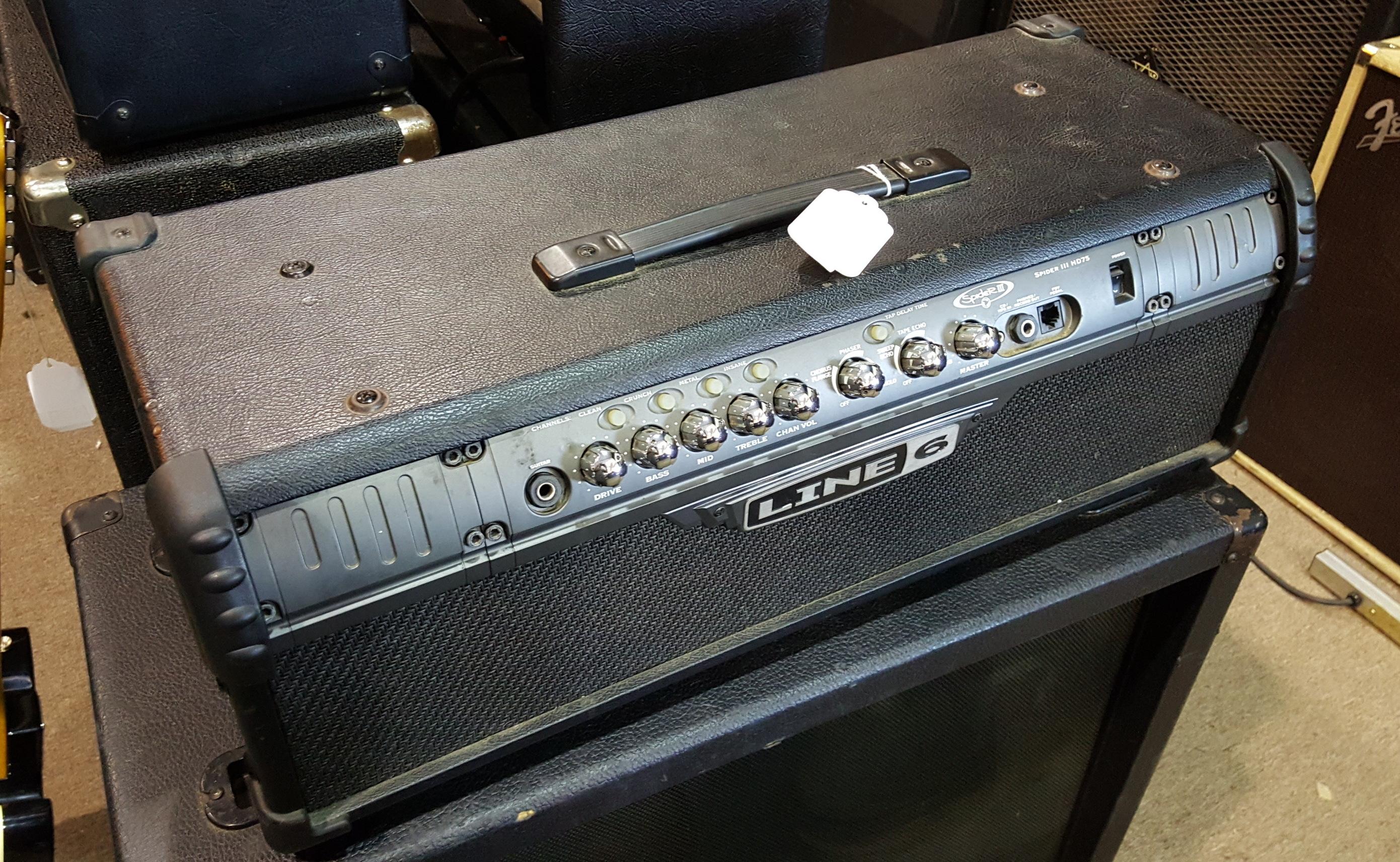 LINE 6 SPIDER III HD75 75W Guitar Amp Head Amplifier SPIDER 3
