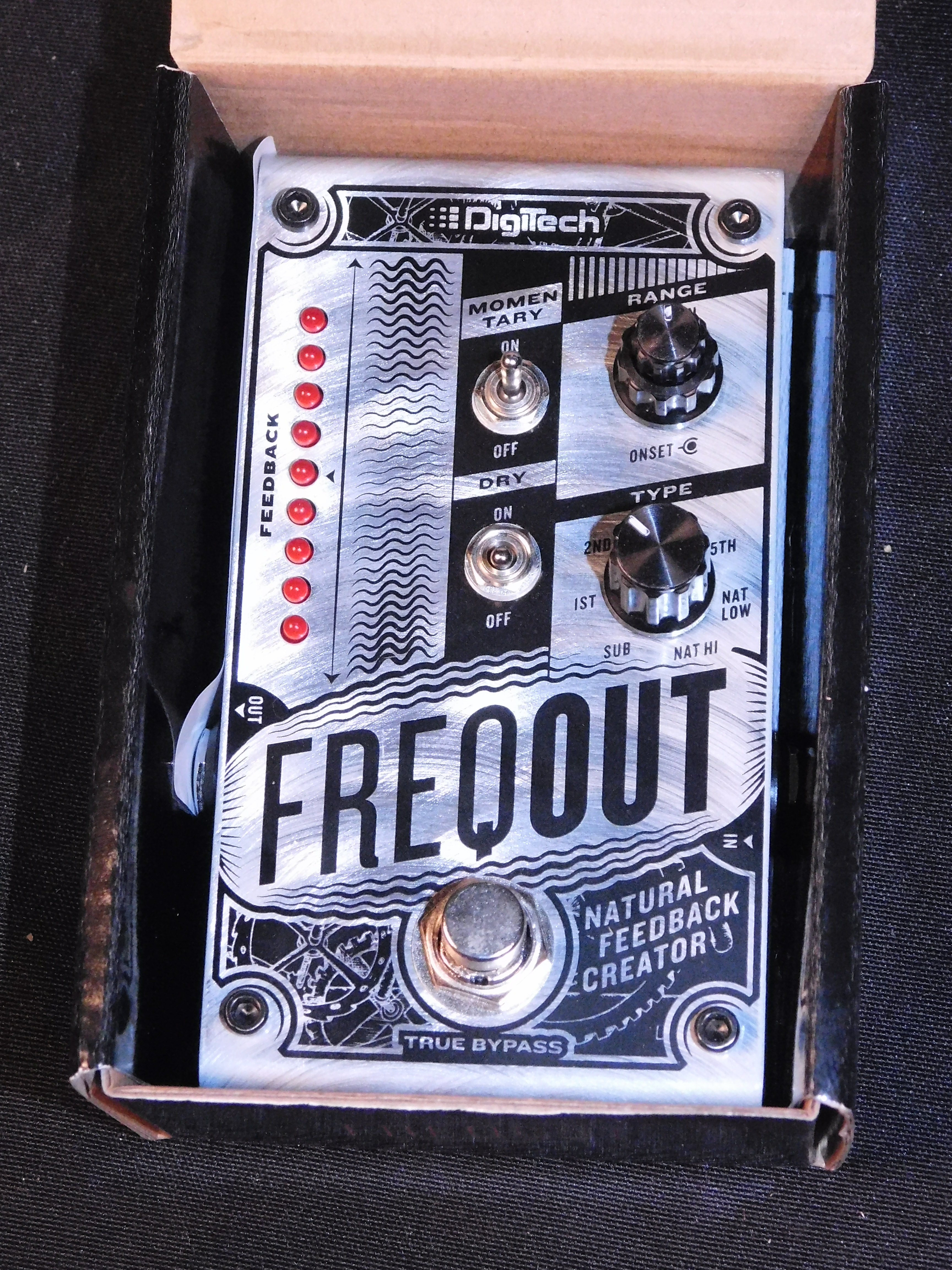 DIGITECH FREQOUT NATURAL FEEDBACK CREATOR FX PEDAL