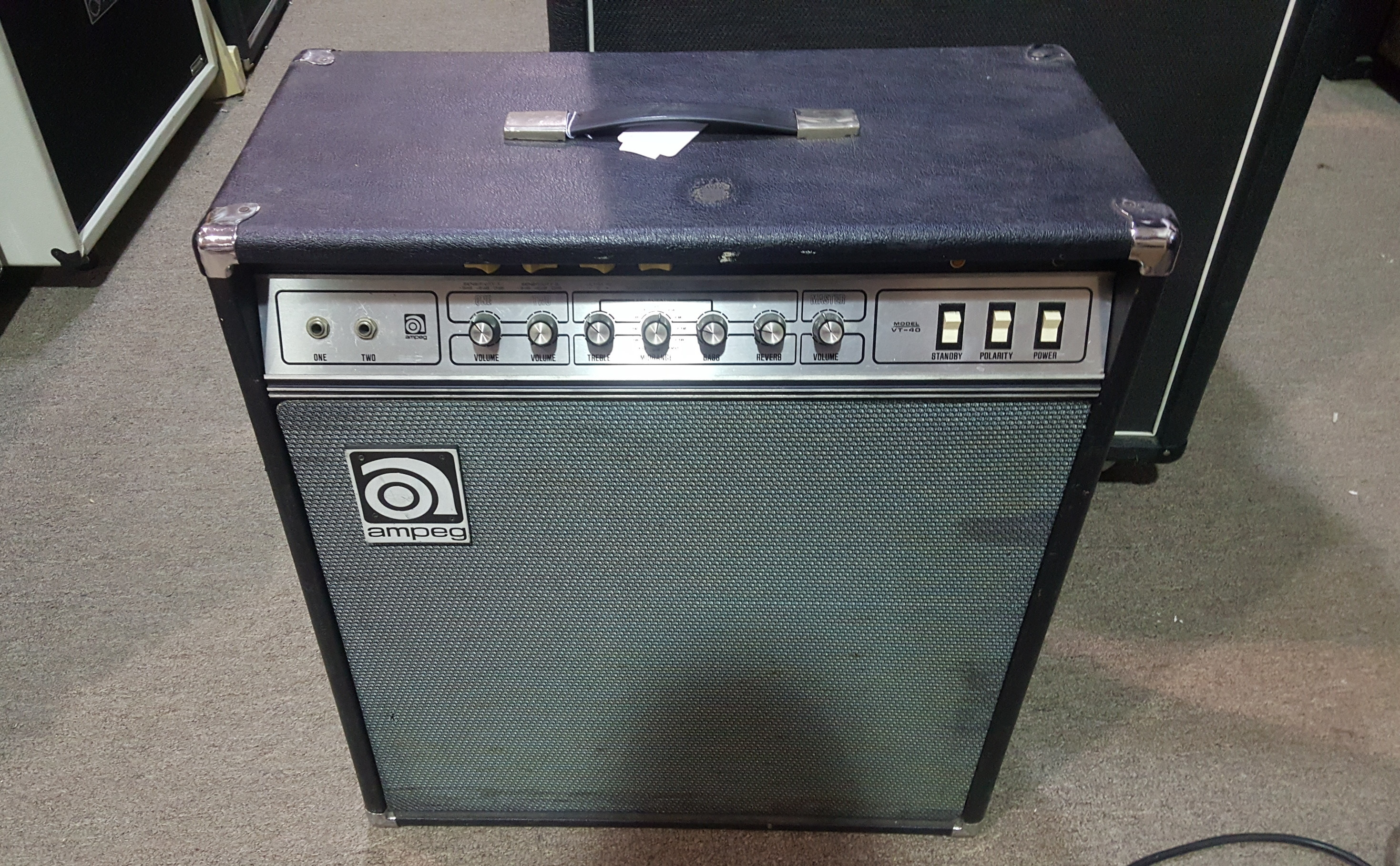 AMPEG VT-40 60W 4x10 Vintage Tube Guitar Amp Combo w/ Reverb! **PICKUP ONLY**