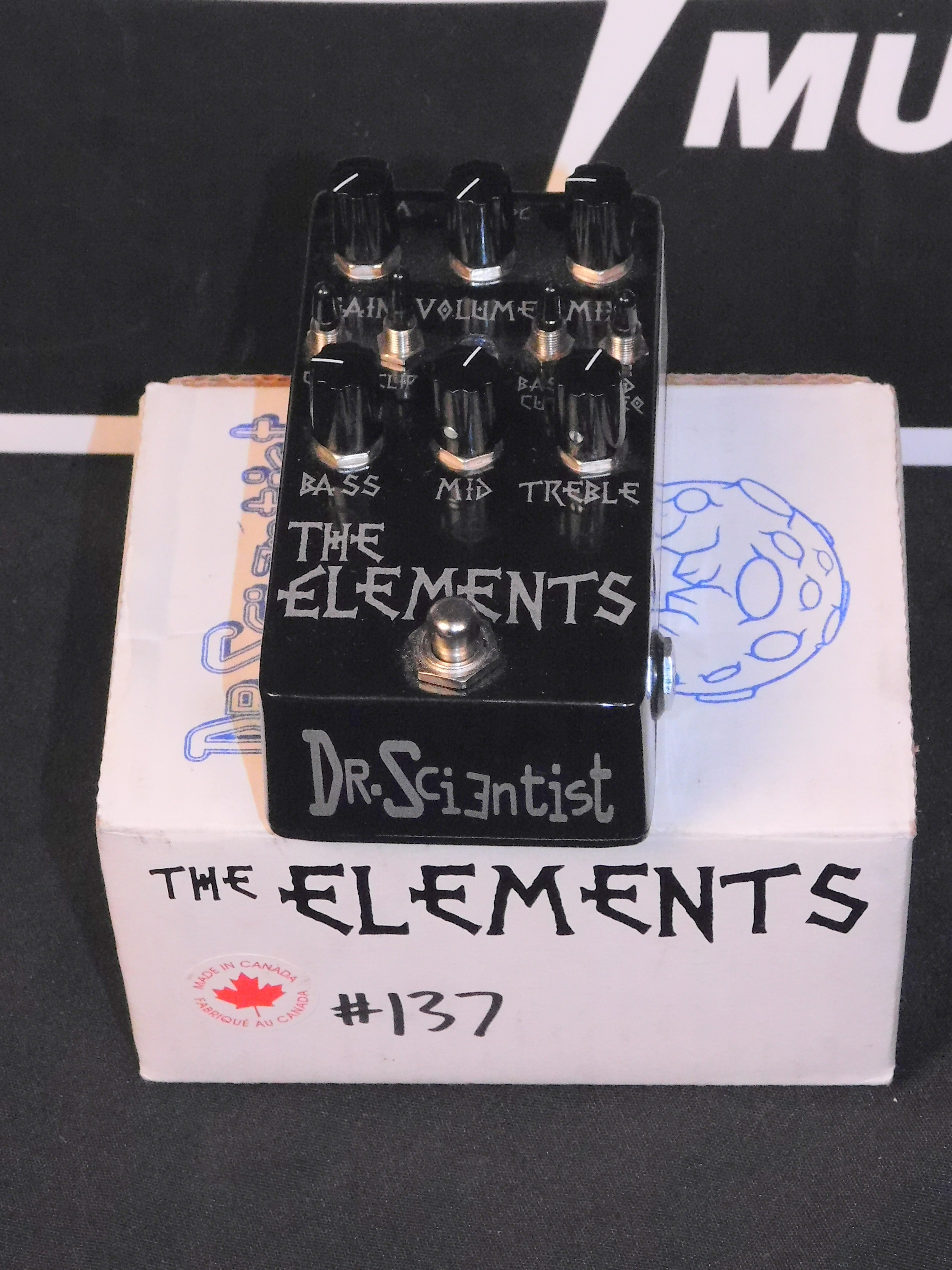 DR SCIENTIST The Elements OVERDRIVE/DISTORTION w/POWER SUPPLY!