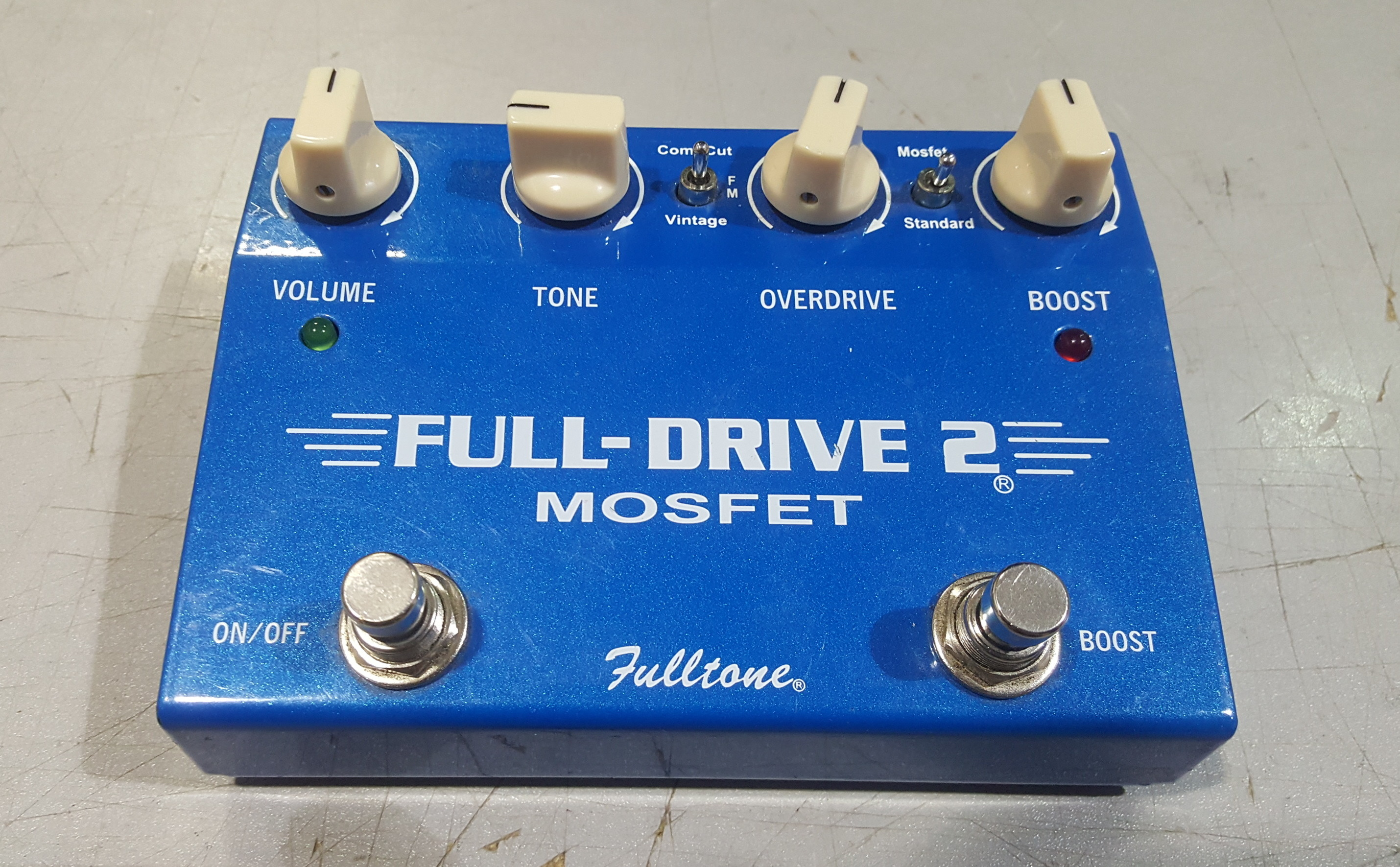 FULLTONE FULL-DRIVE 2 MOSFET Overdrive/Boost Guitar FX Effects Pedal