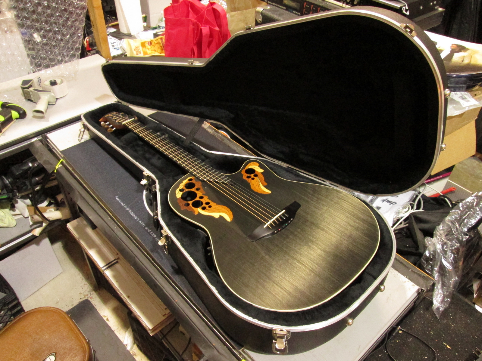 ADAMAS 1597 4G GRAPHITE TOP GUITAR ***BY OVATION***