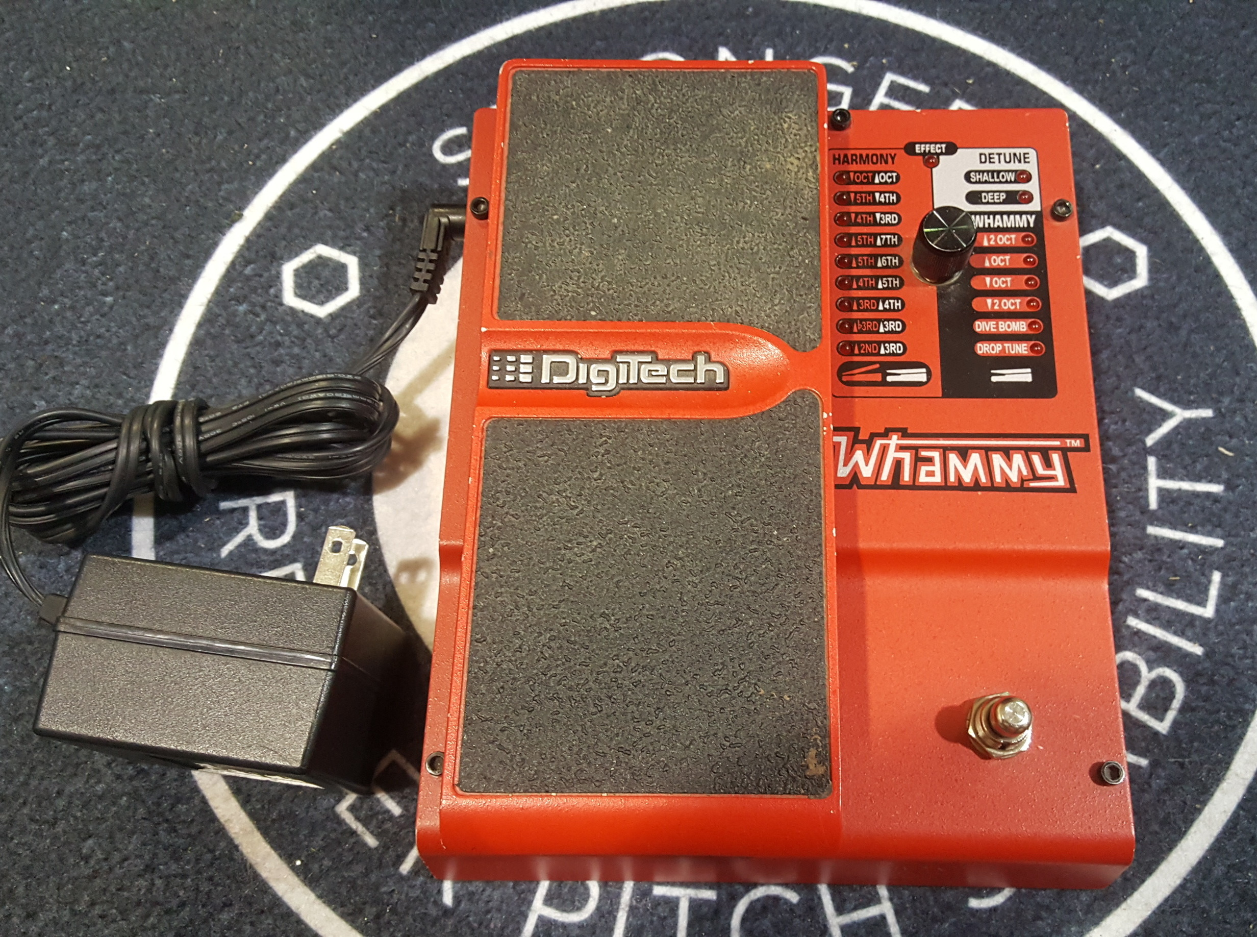 DIGITECH WHAMMY Pitch-Shifter Guitar Effects FX Pedal with Power Supply!!