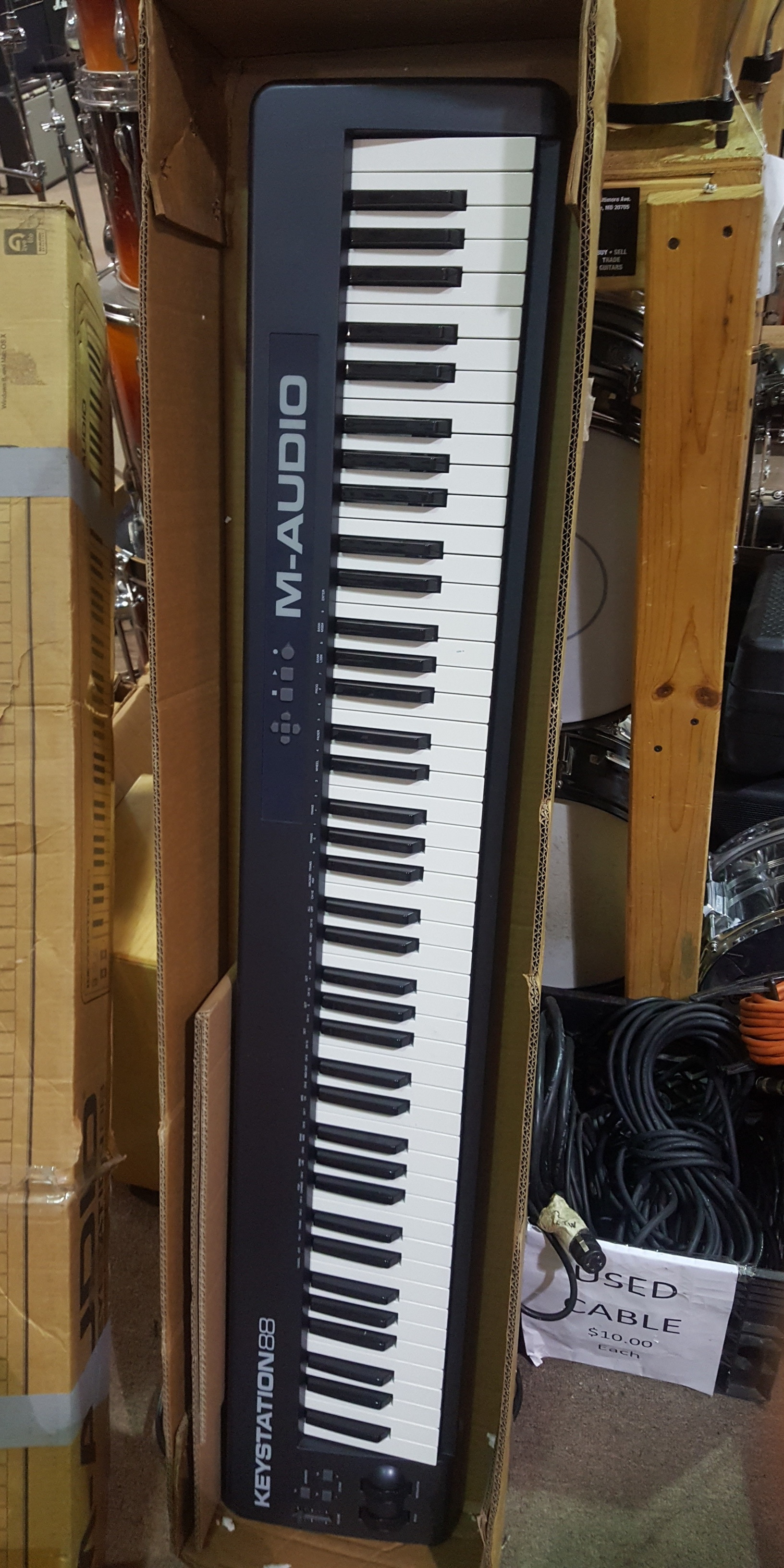 M-AUDIO KEYSTATION 88 88-Key USB MIDI Controller Keyboard **PICKUP ONLY**