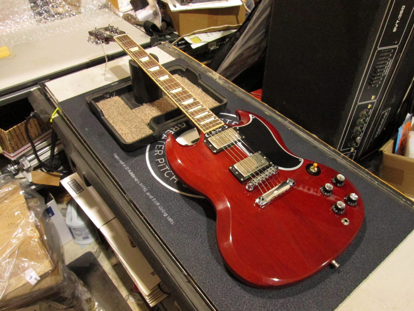 2013 GIBSON SG STANDARD W/OHSC **OPTIONAL MODIFICATIONS**