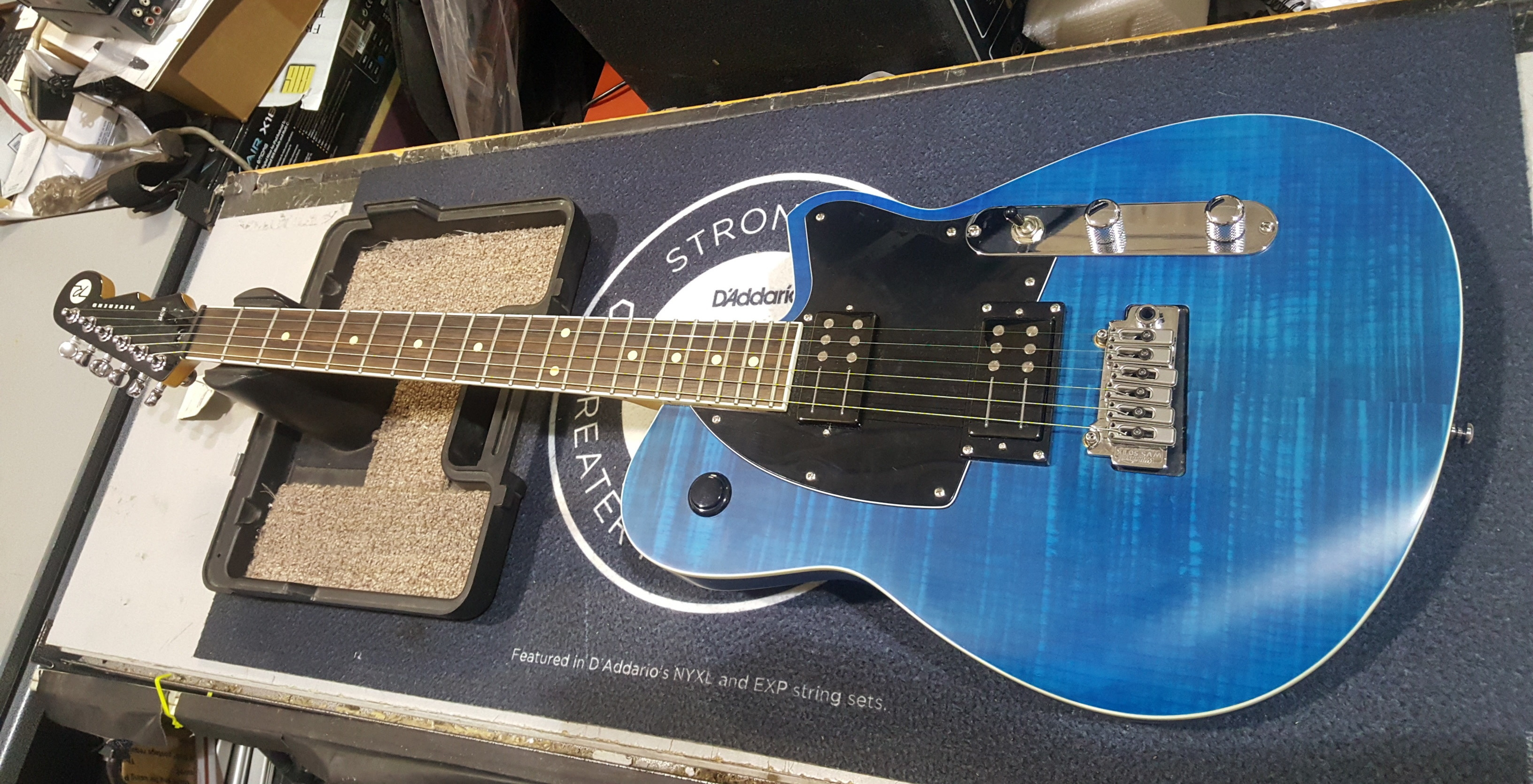 REVEREND REEVES GABRELS Signature Electric Guitar - SATIN BLUE FLAME MAPLE!!
