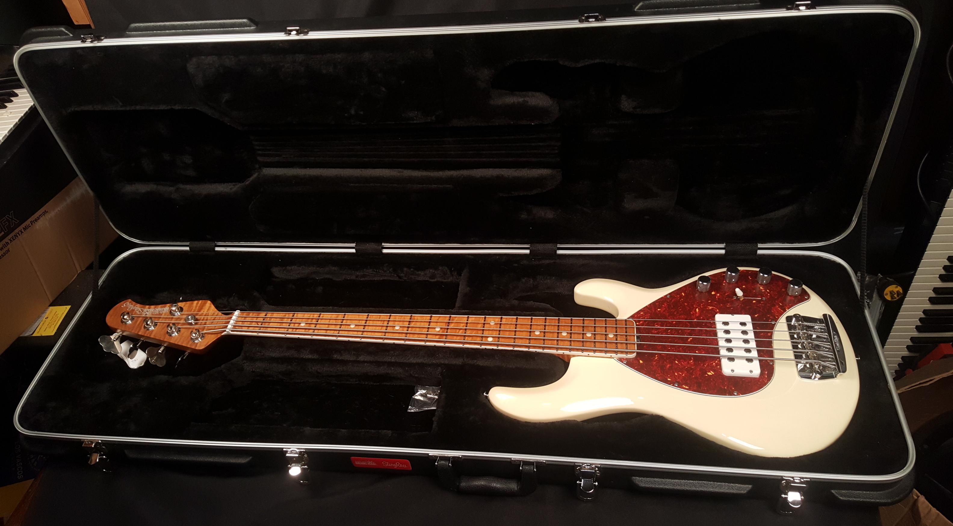 ERNIE BALL MUSIC MAN StingRay5 30th Anniversary Bass W/HSC - TRANS BUTTERCREAM!