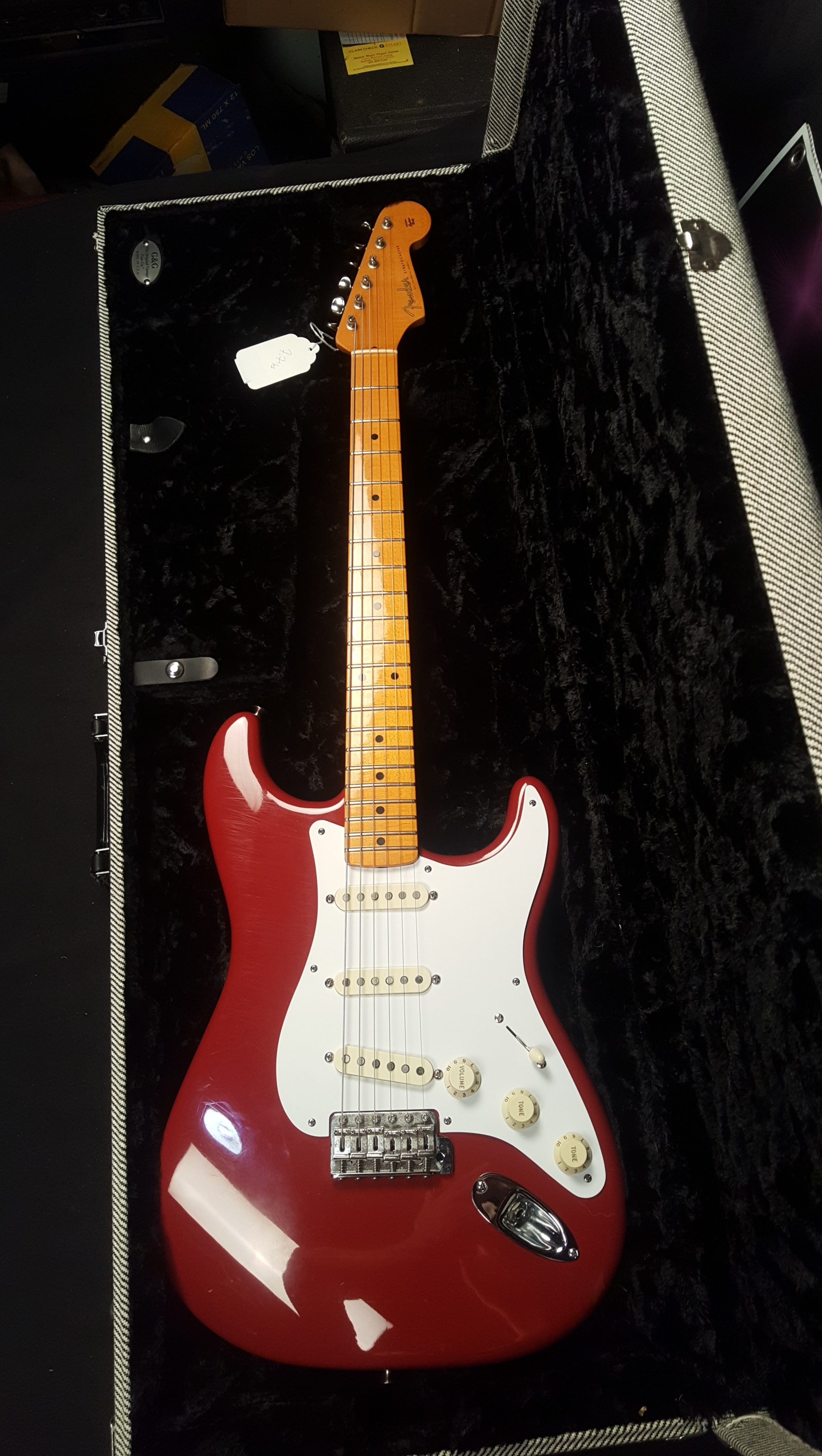 FENDER ERIC JOHNSON Stratocaster Electric Guitar W/HSC - CANDY APPLE RED!