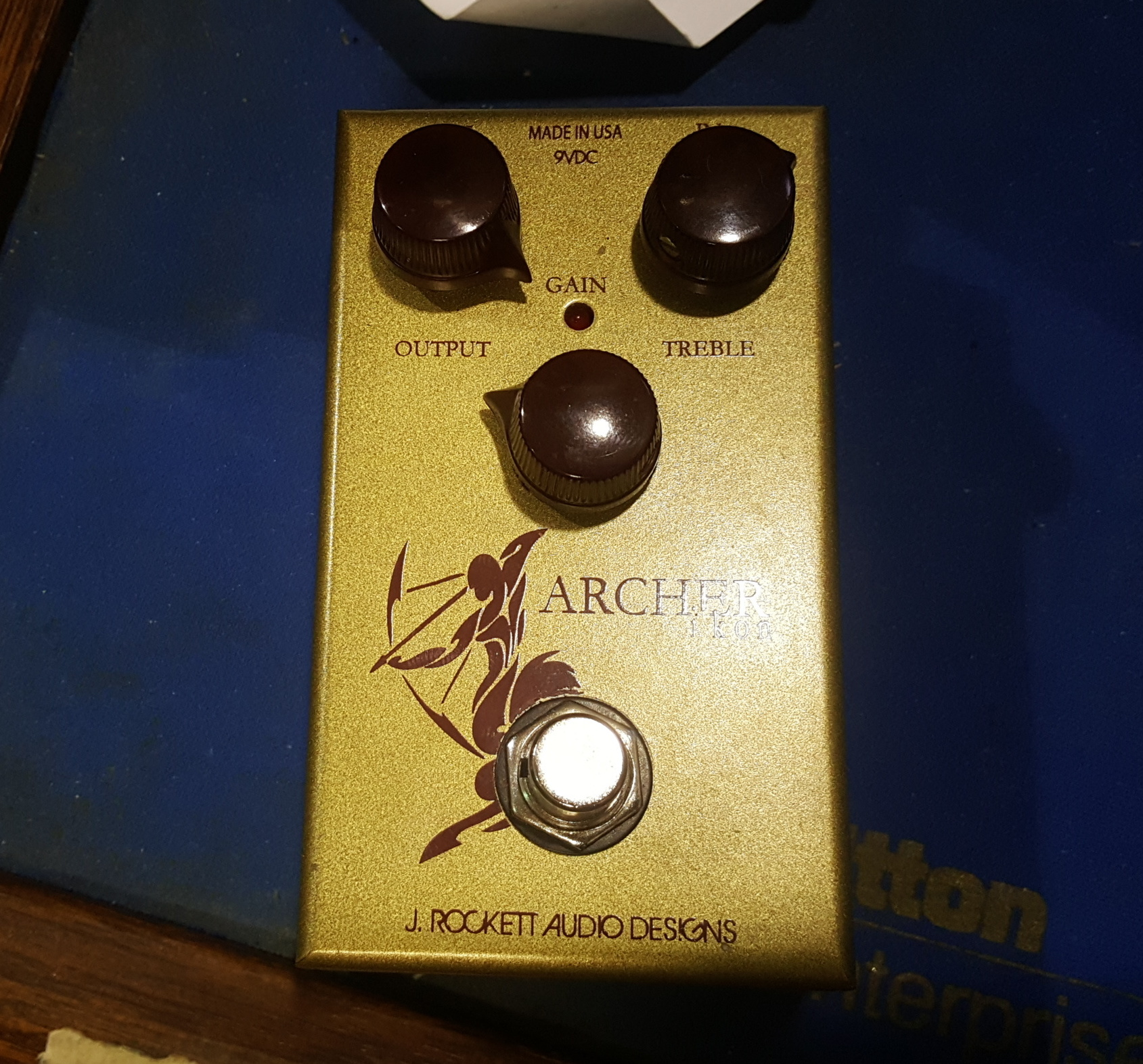 J. ROCKETT ARCHER IKON Overdrive Guitar Effects FX Pedal