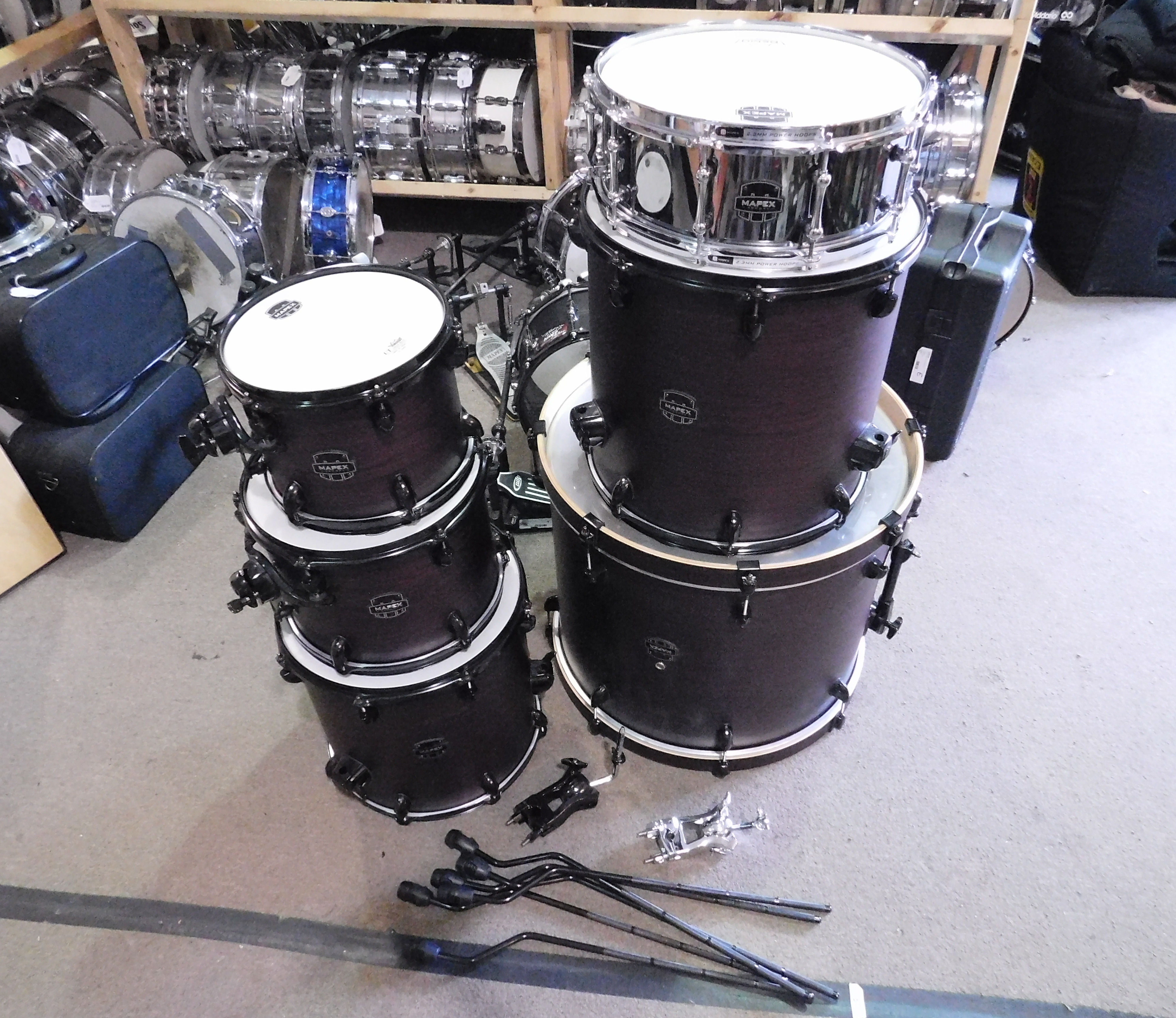 MAPEX Armory 6-Piece Shell Pack - PURPLE HAZE SATIN - LOCAL PICKUP ONLY!