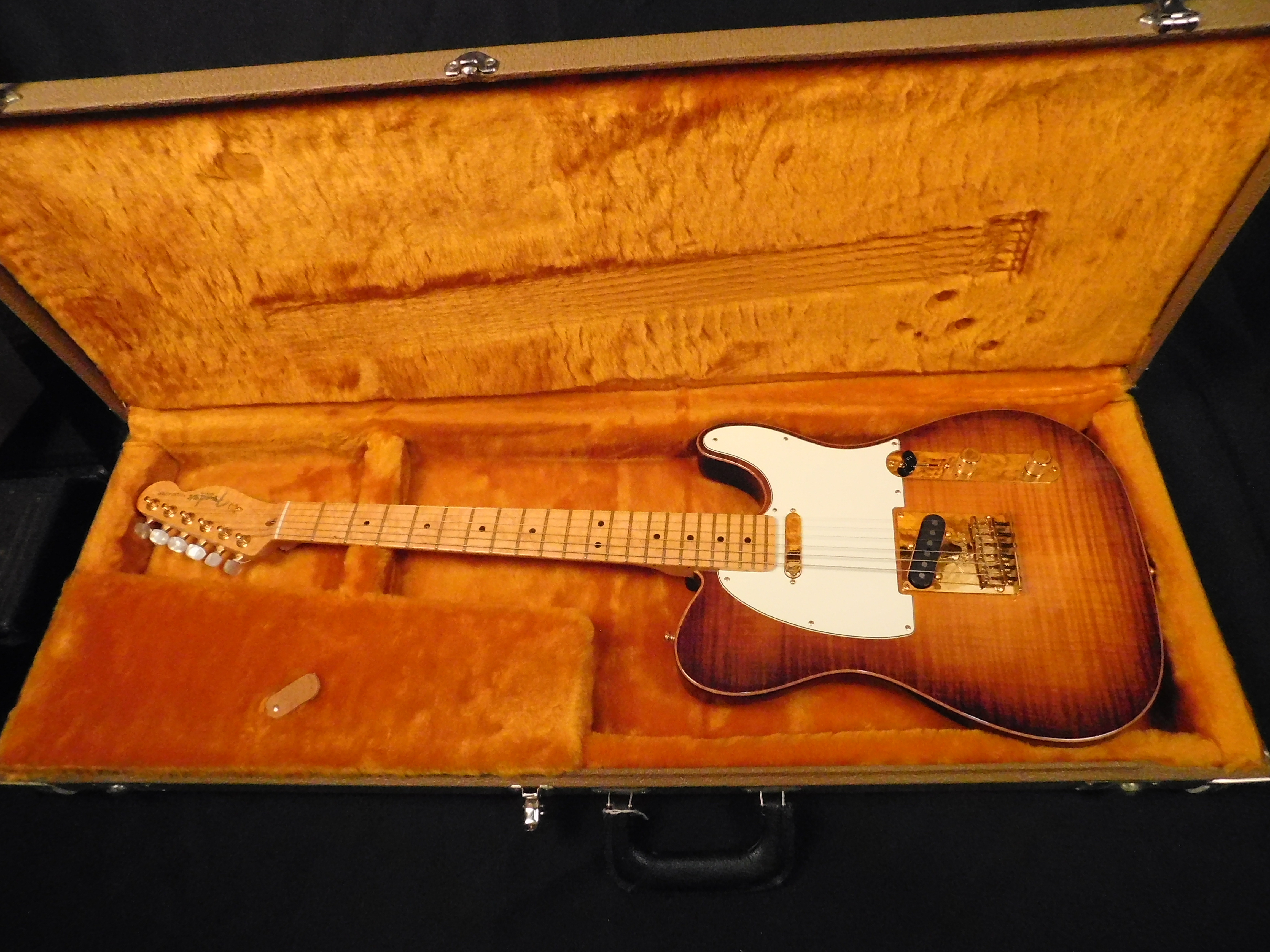 2012 FENDER American Select Telecaster Electric Guitar **HSC** Violin Burst
