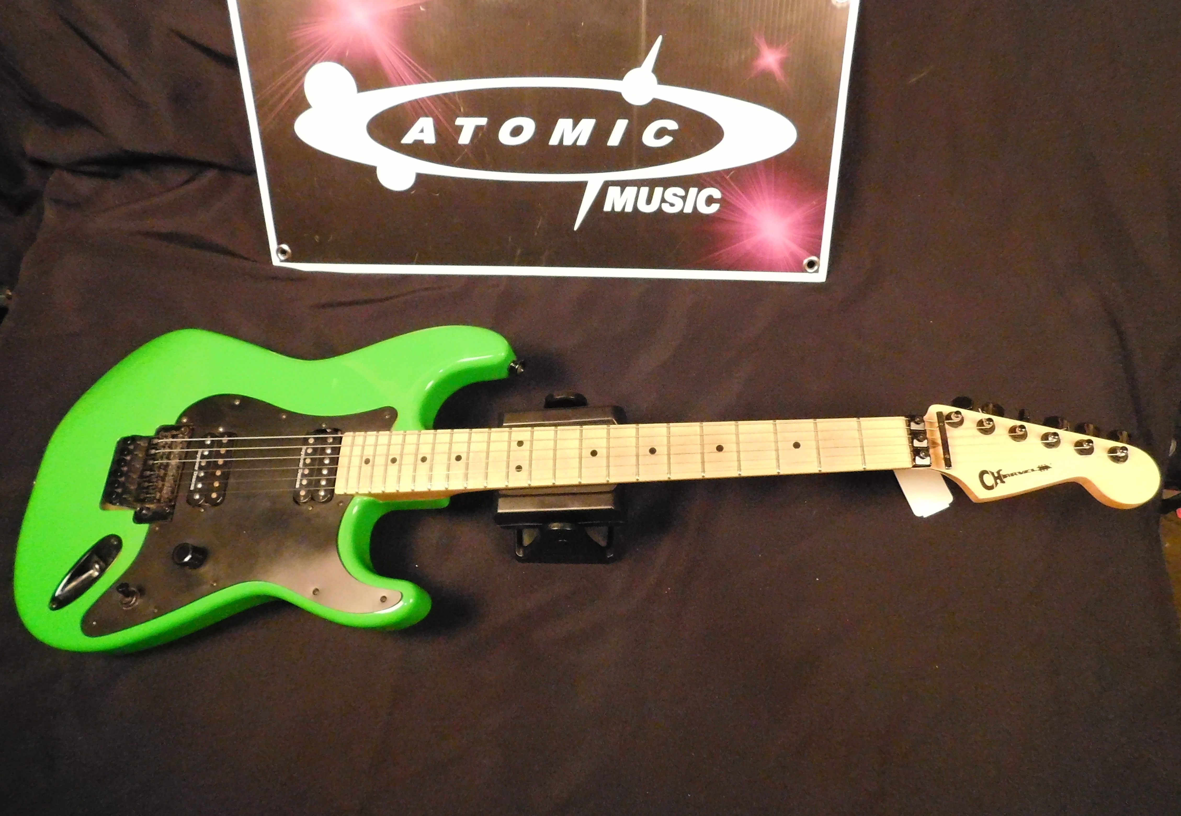 CHARVEL SO-CAL STYLE 1 HH Electric Guitar MIM - SLIME GREEN w/ Gig-bag!