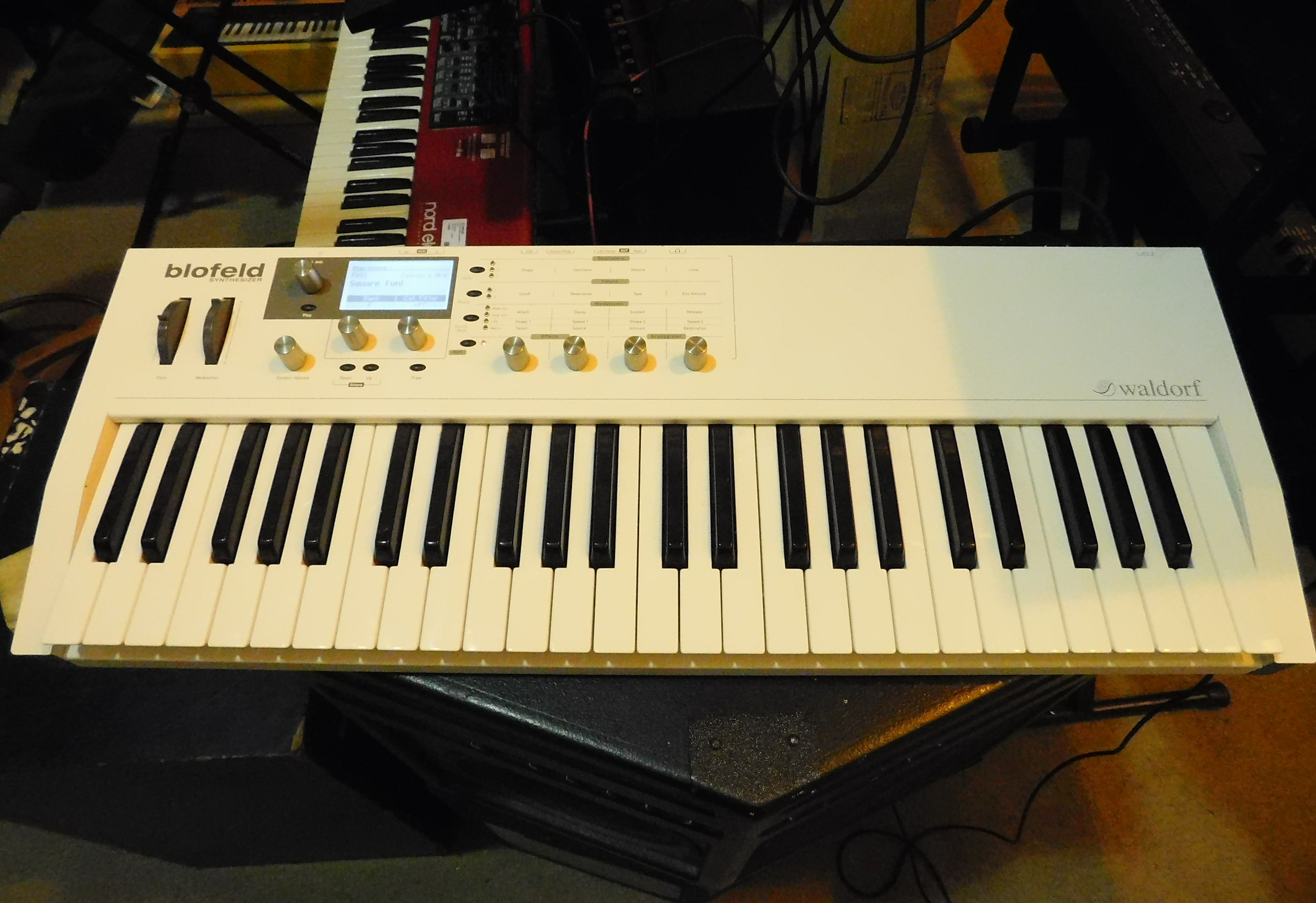 WALDORF BLOFELD 49-Key Synthesizer - WHITE