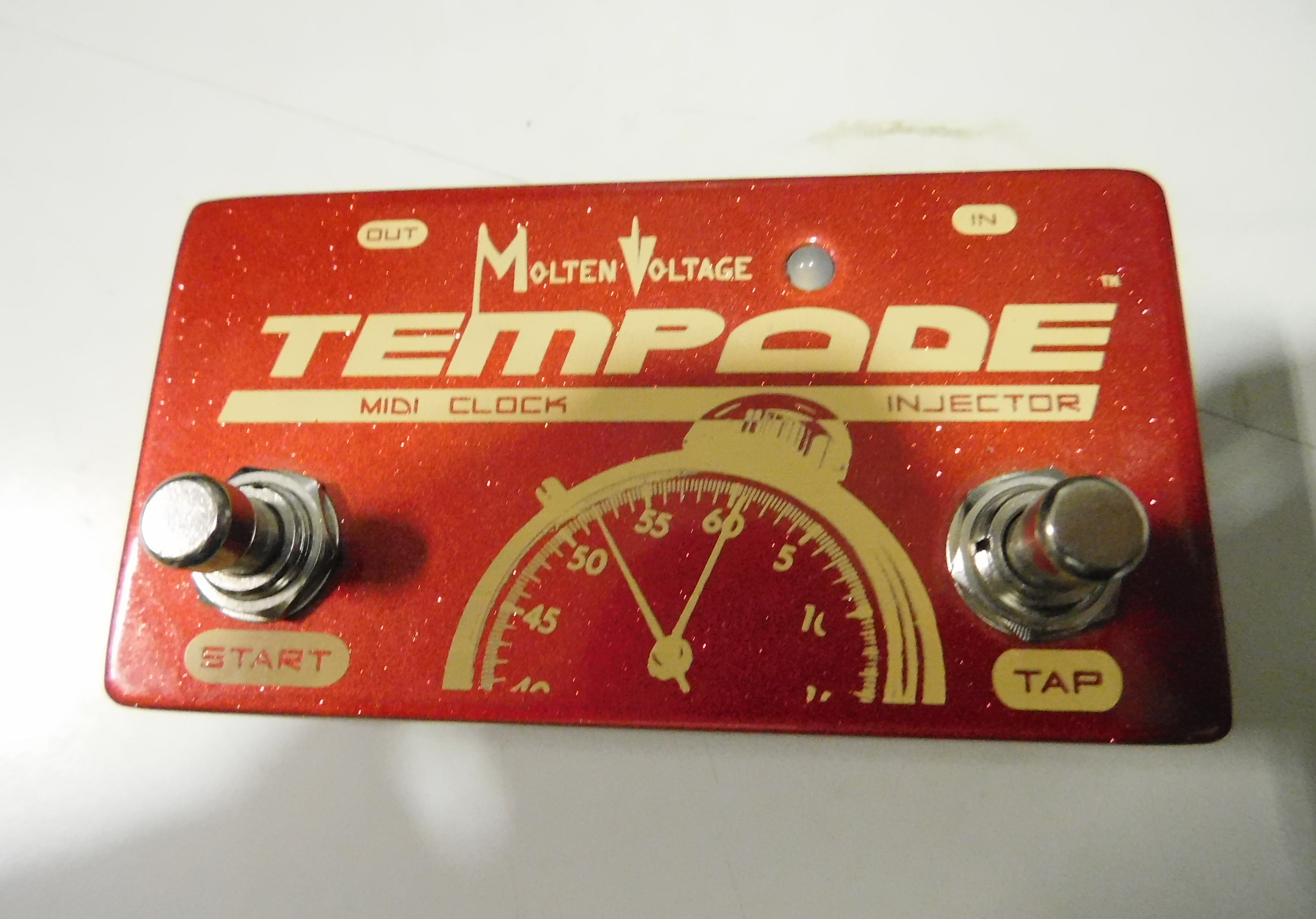 MOLTEN VOLTAGE TEMPODE MIDI Clock Injector Pedal