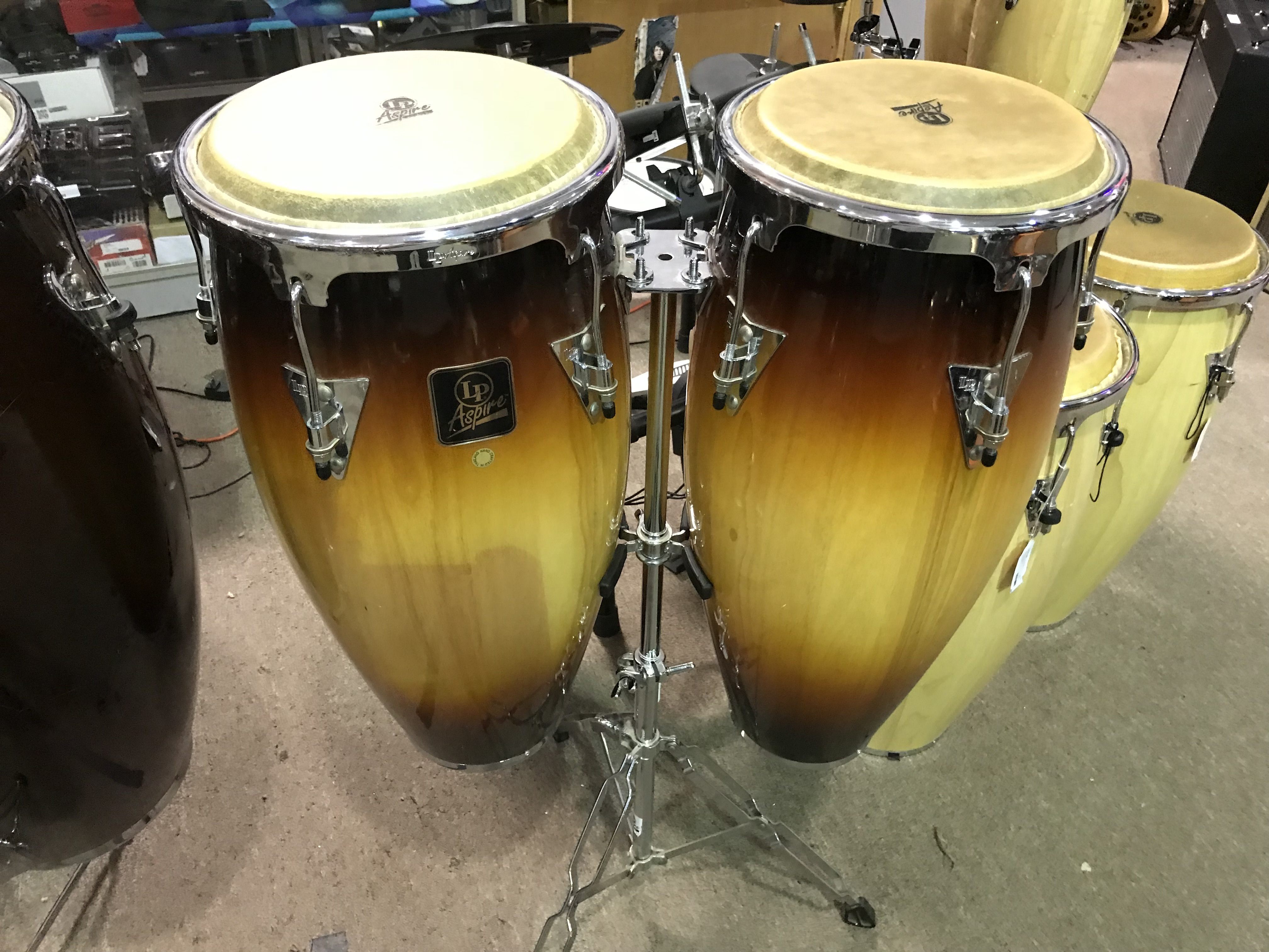 L.P. Aspire Conga Drums Pair with Stand