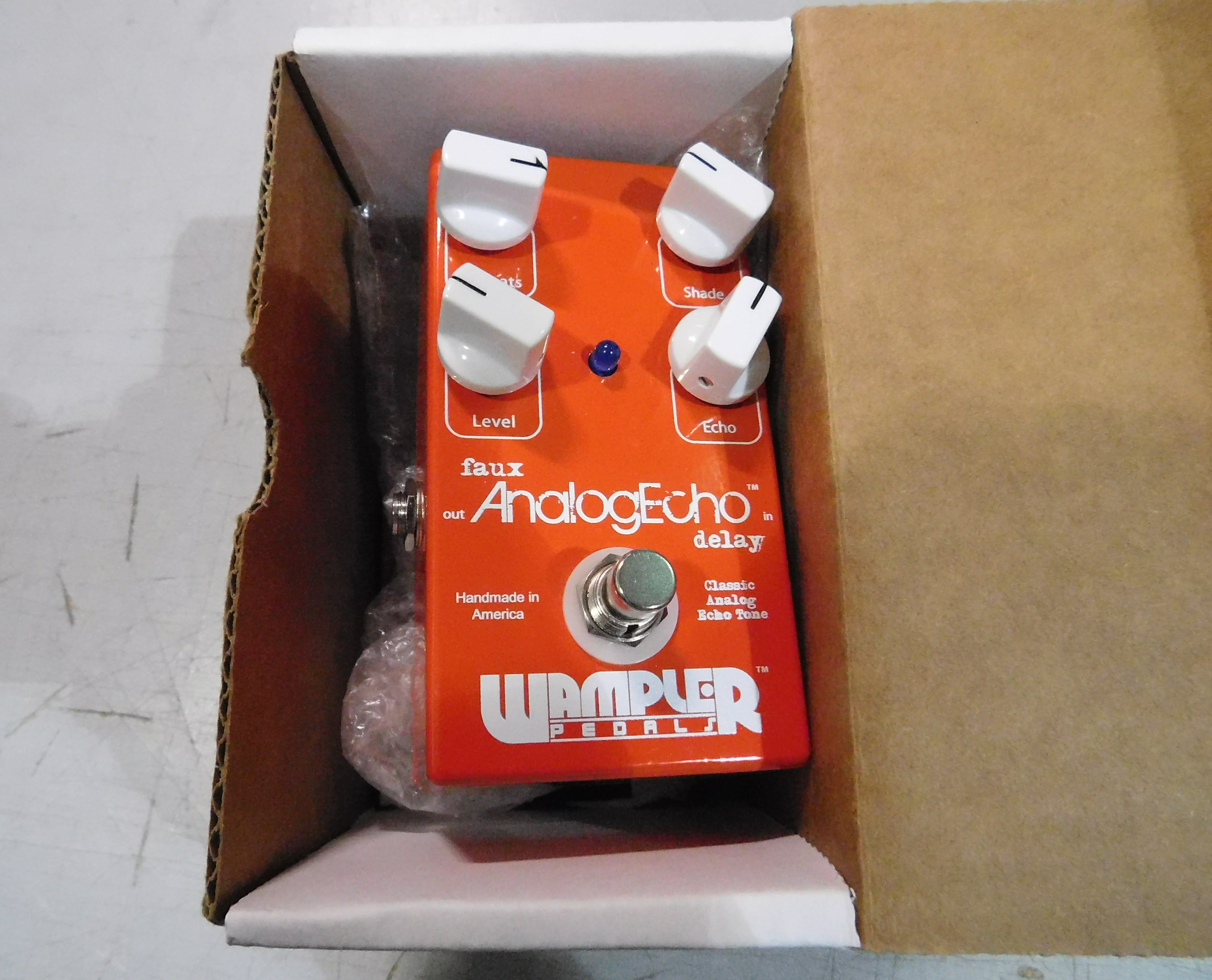 WAMPLER FAUX ANALOG ECHO Delay Guitar Effect Pedal