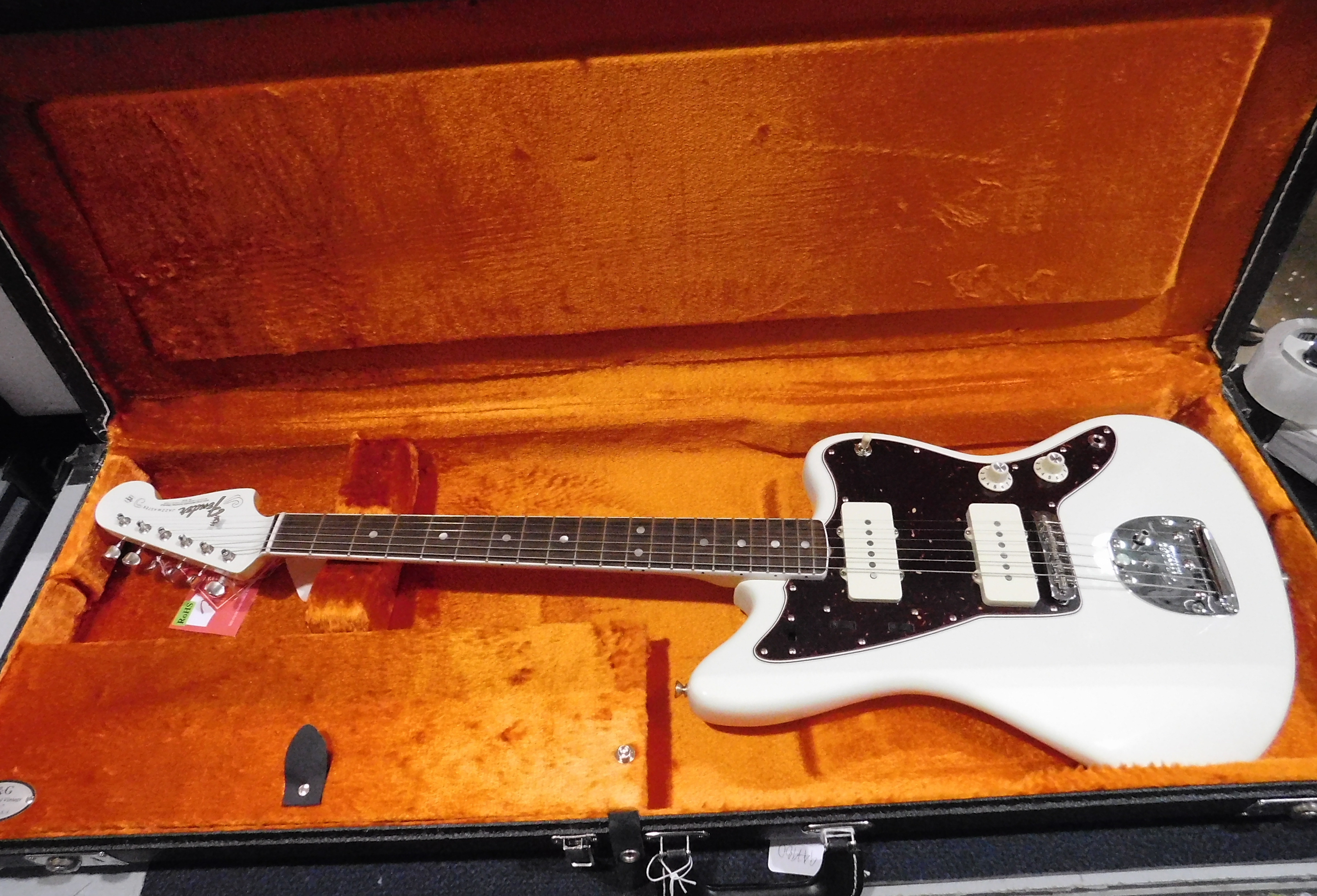FENDER AMERICAN VINTAGE '65 JAZZMASTER Electric Guitar **HSC** Olympic White