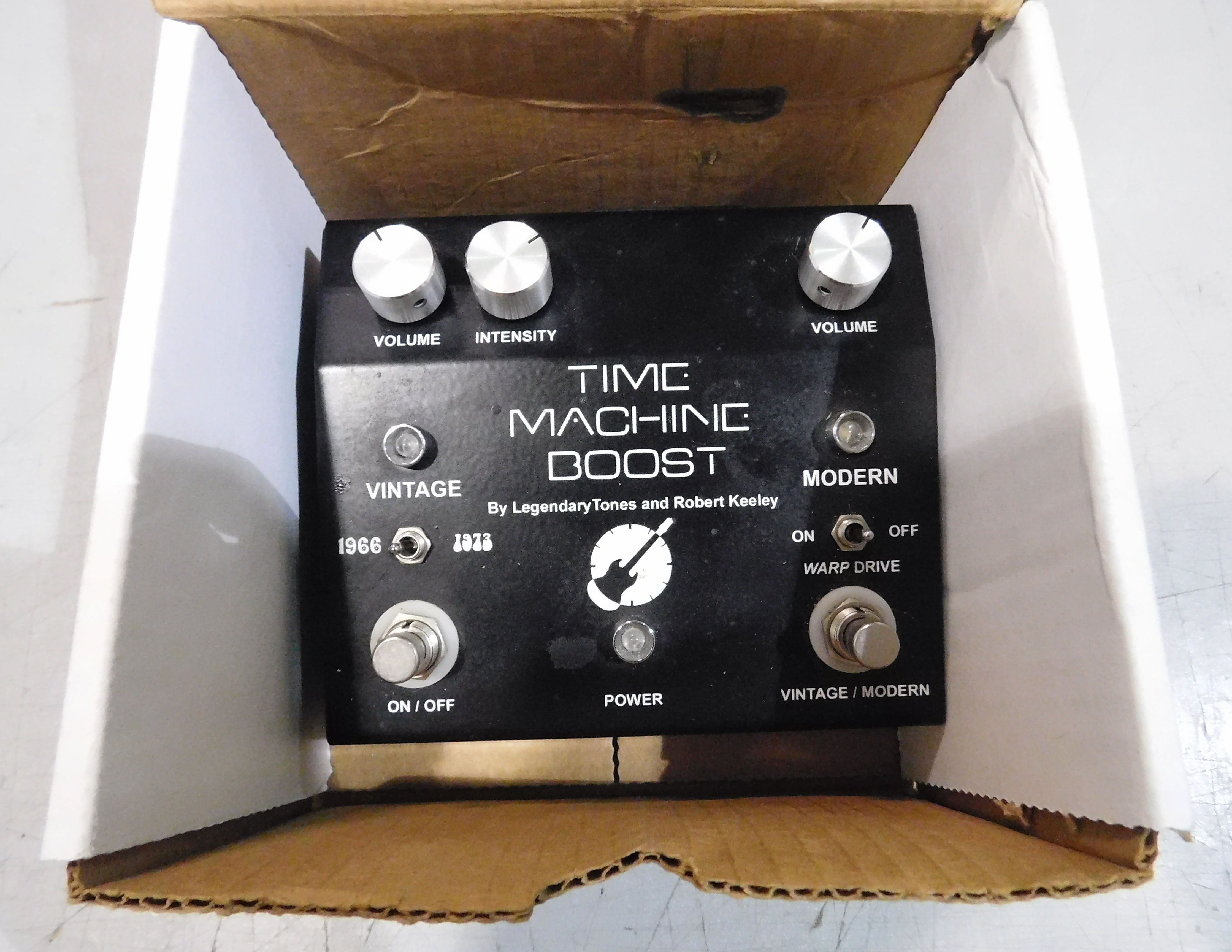 KEELEY TIME MACHINE BOOST Guitar Effect Pedal - ROBERT KEELEY SIGNED #13