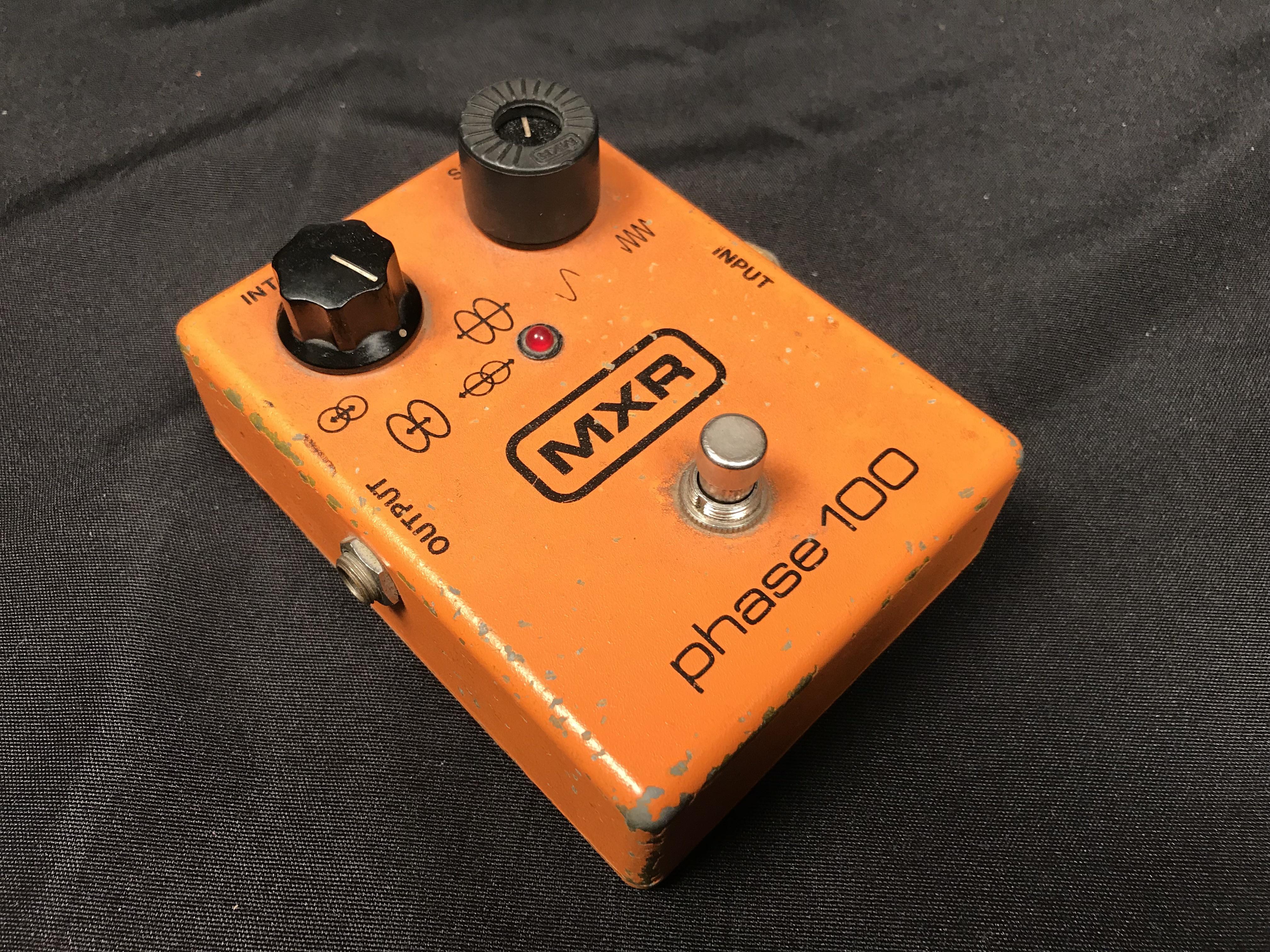 MXR PHASE 100 Vintage Block Logo Phaser Effect Pedal