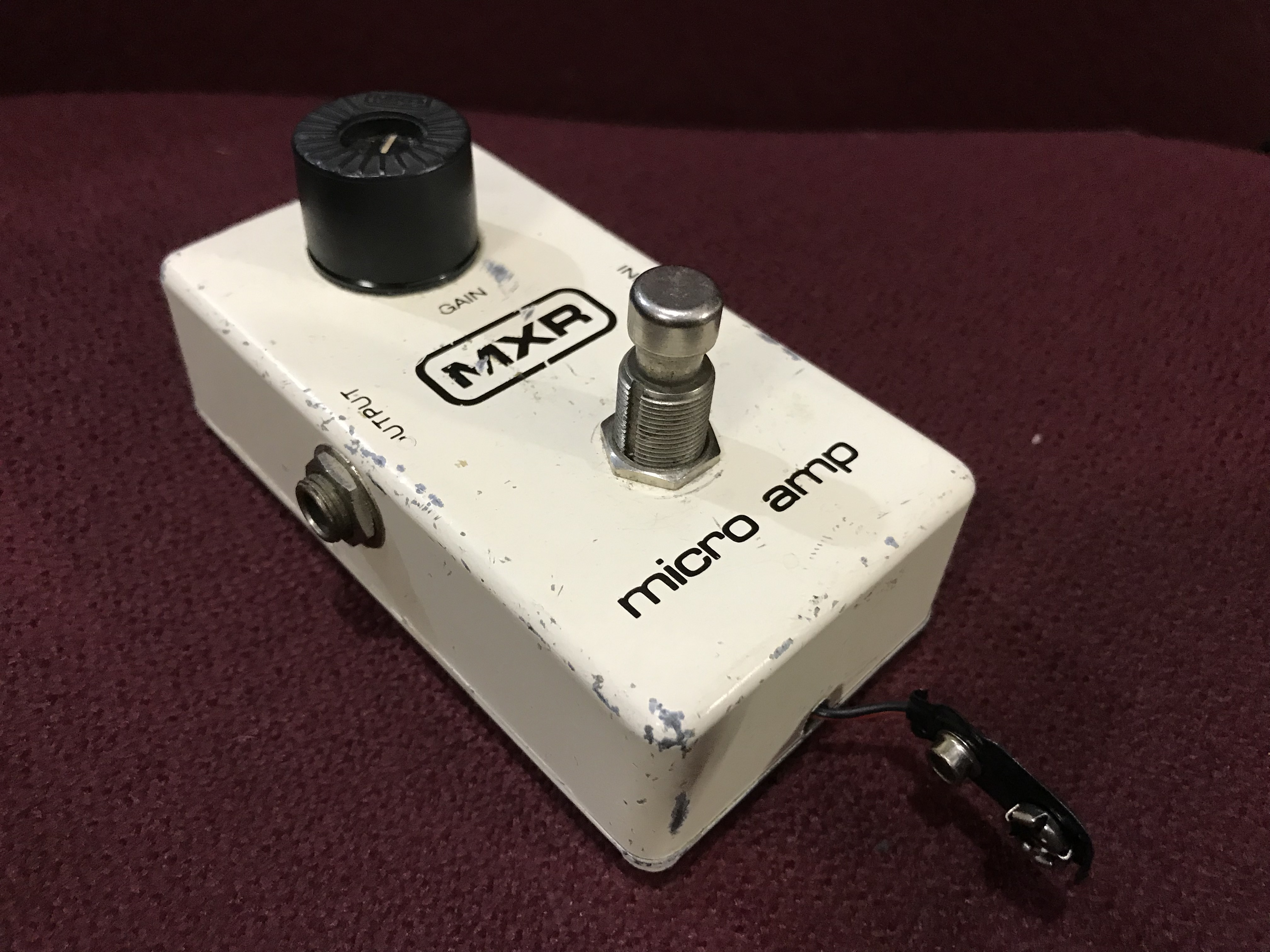 MXR MICRO AMP 1981 M133 Non-LED Vintage Booster Effect Pedal