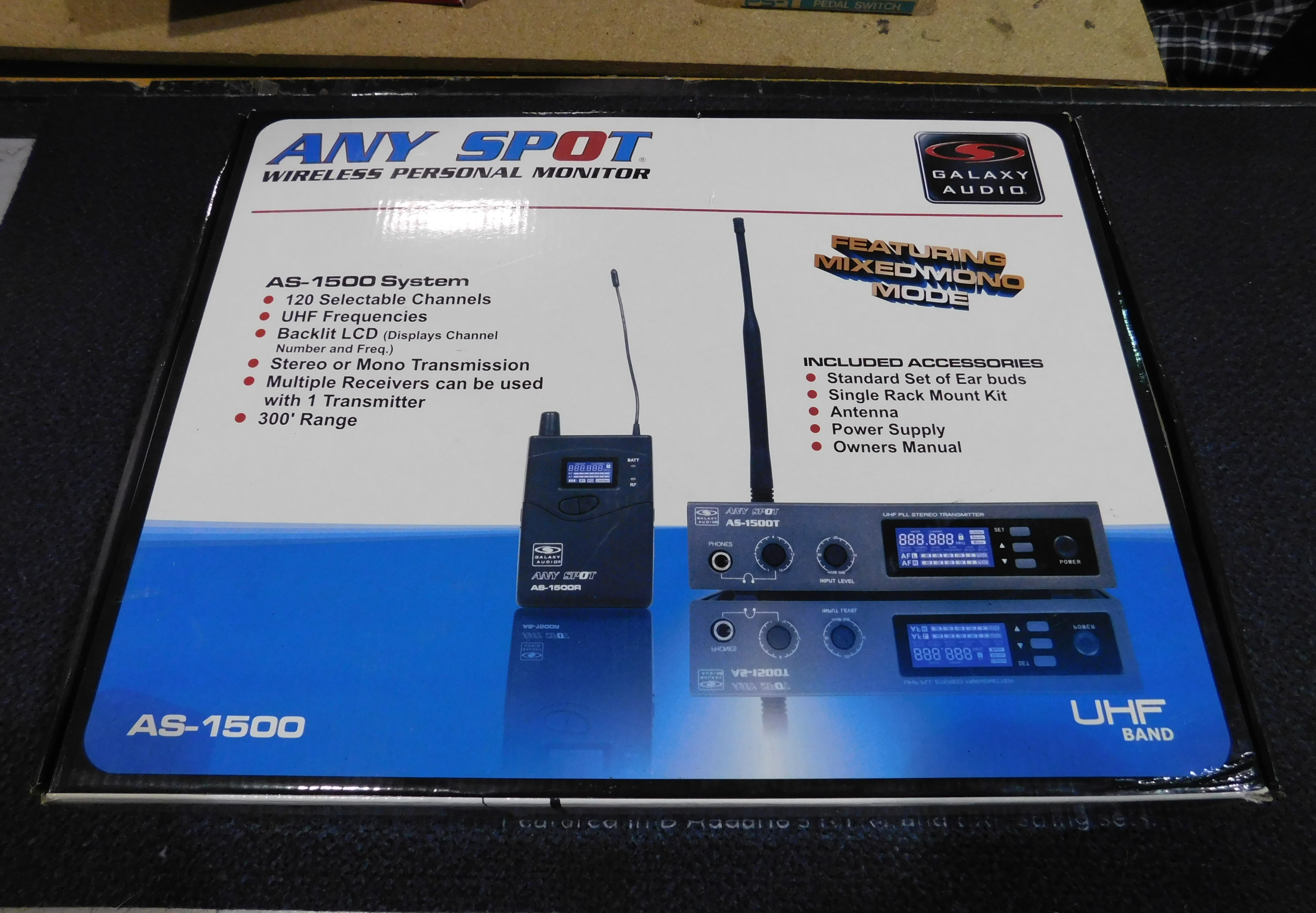 GALAXY AUDIO AS-1500 Personal Wireless In-Ear Monitor System
