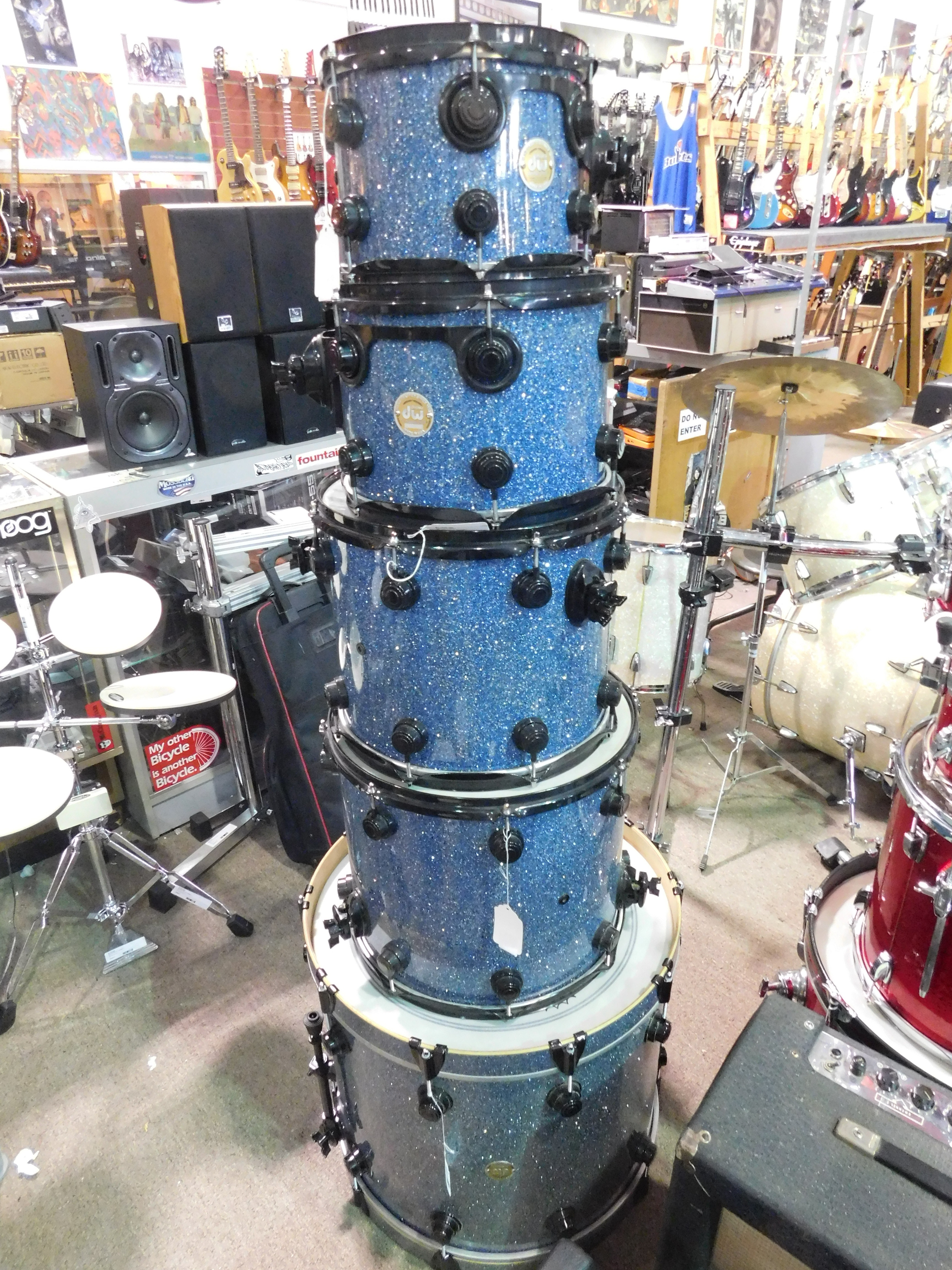 DW COLLECTOR'S SERIES 5-Piece Shell Pack Drum Kit Blue - LOCAL PICKUP ONLY!
