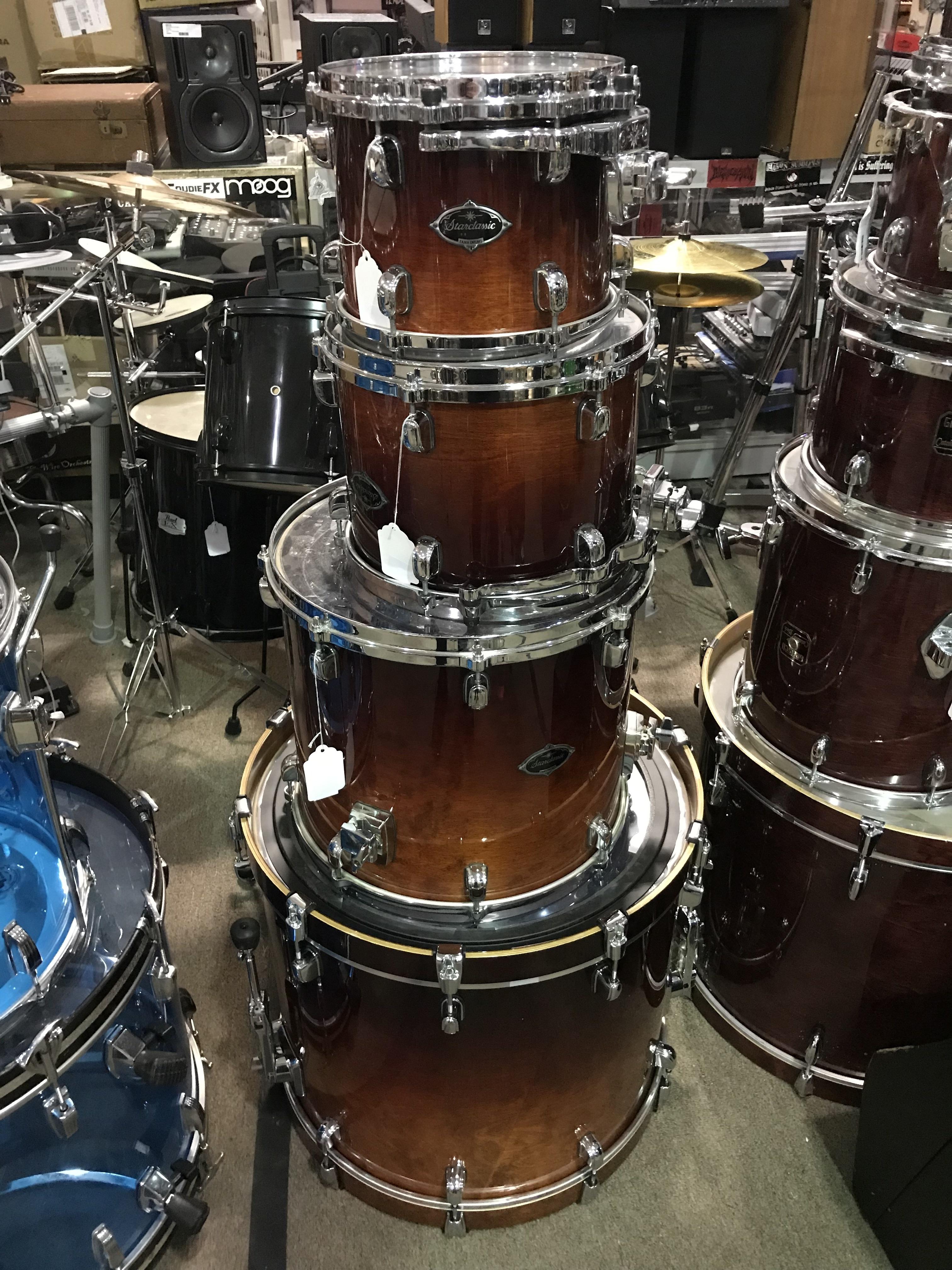 TAMA STARCLASSIC BUBINGA Natural Burst 4PC Drum Kit