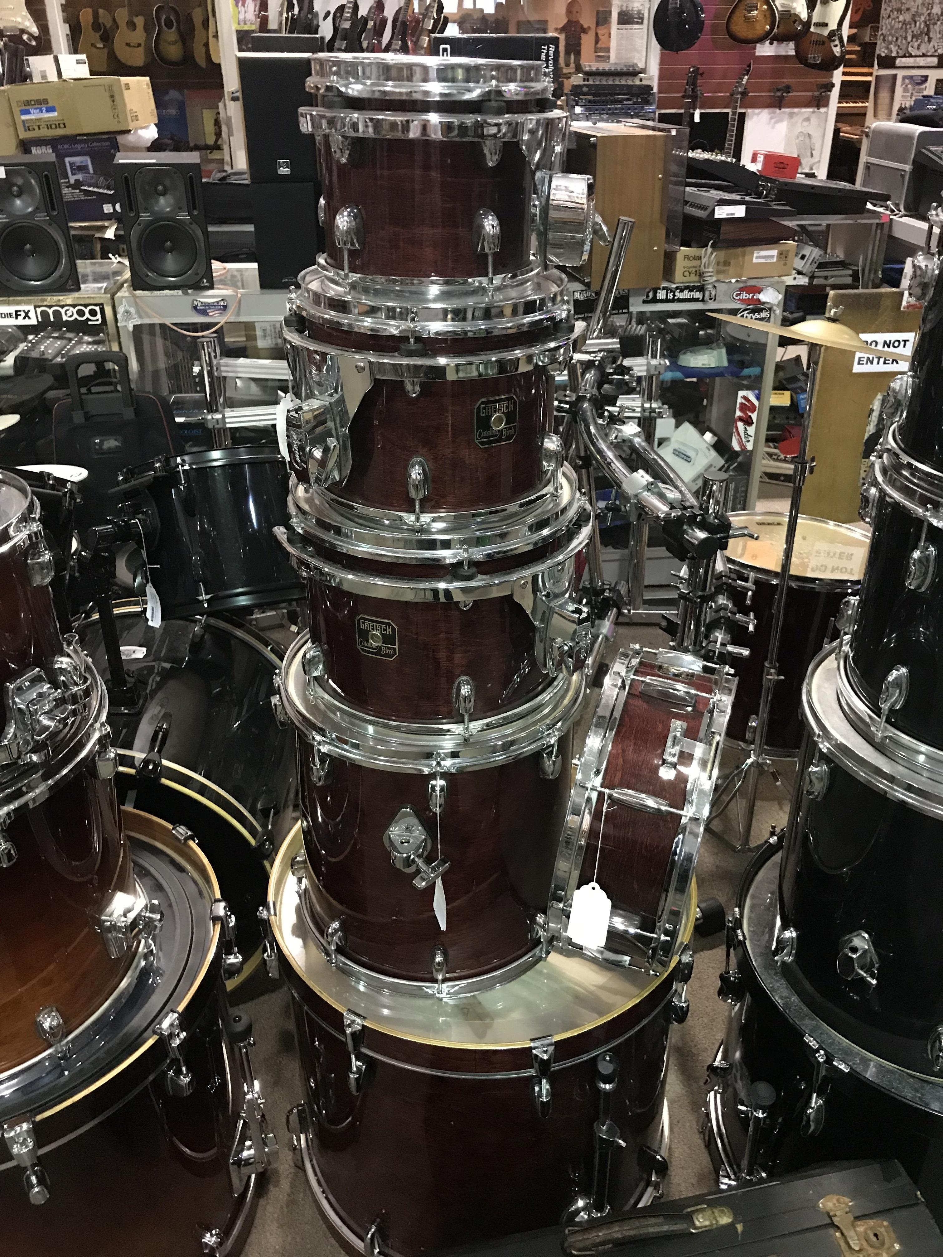GRETSCH CATALINA BIRCH Natural Dark Red 6PC Drum Kit