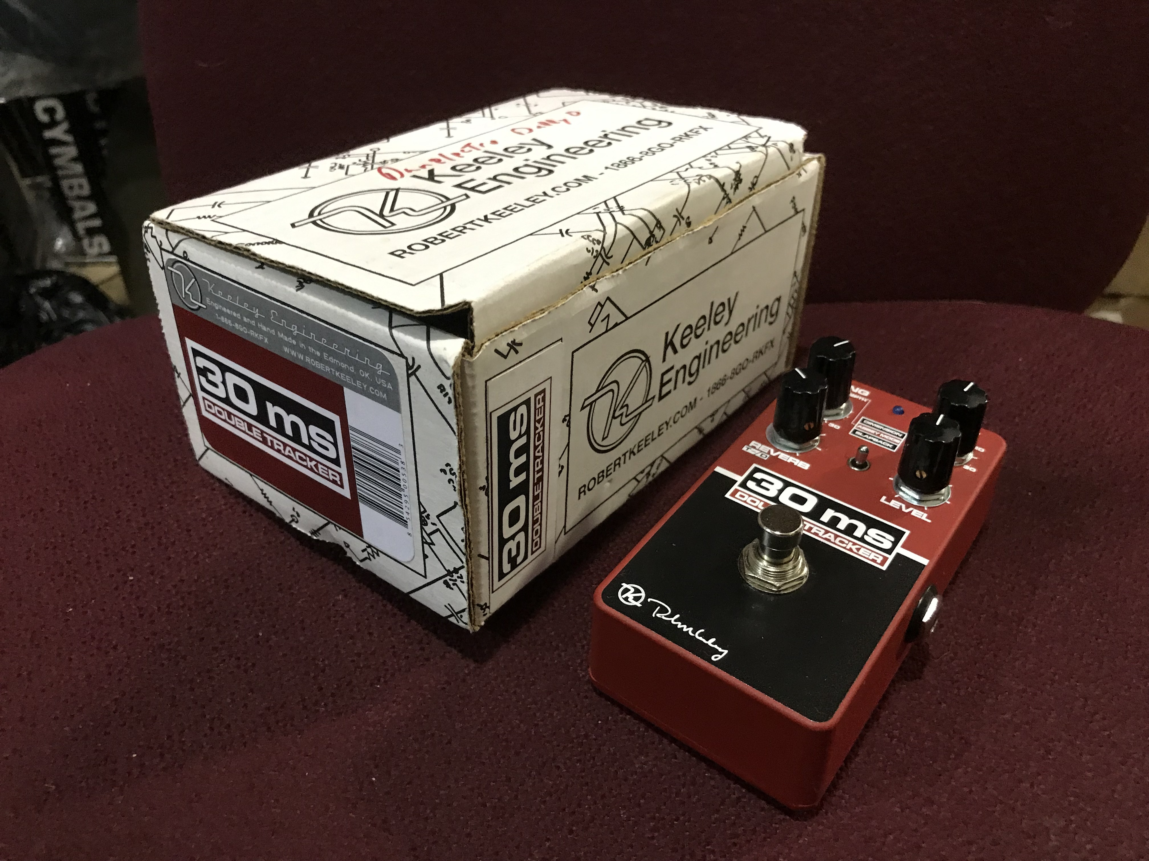 KEELEY 30MS AUTOMATIC DOUBLE TRACKER Delay/Reverb Effect Pedal