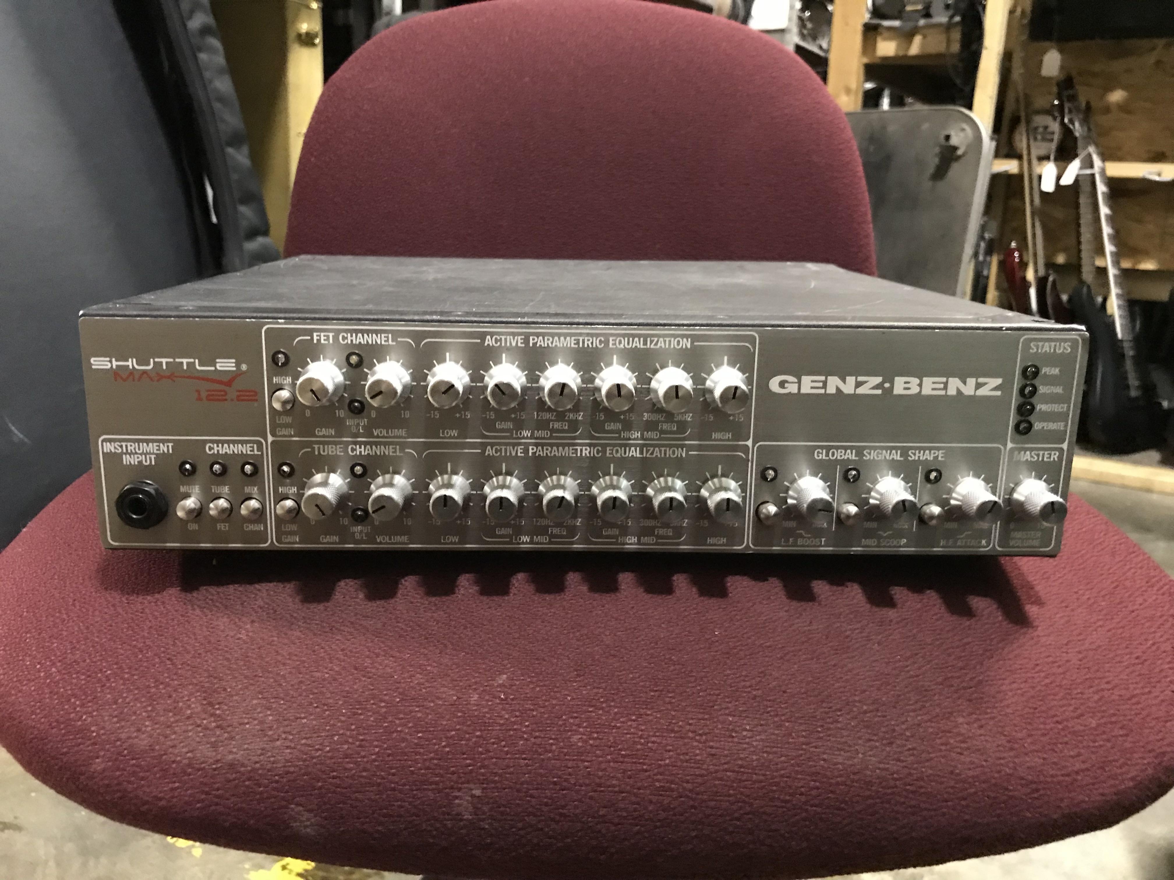 GENZ BENZ SHUTTLEMAX 12.2 1200W Hybrid Tube/FET Bass Amplifier Head