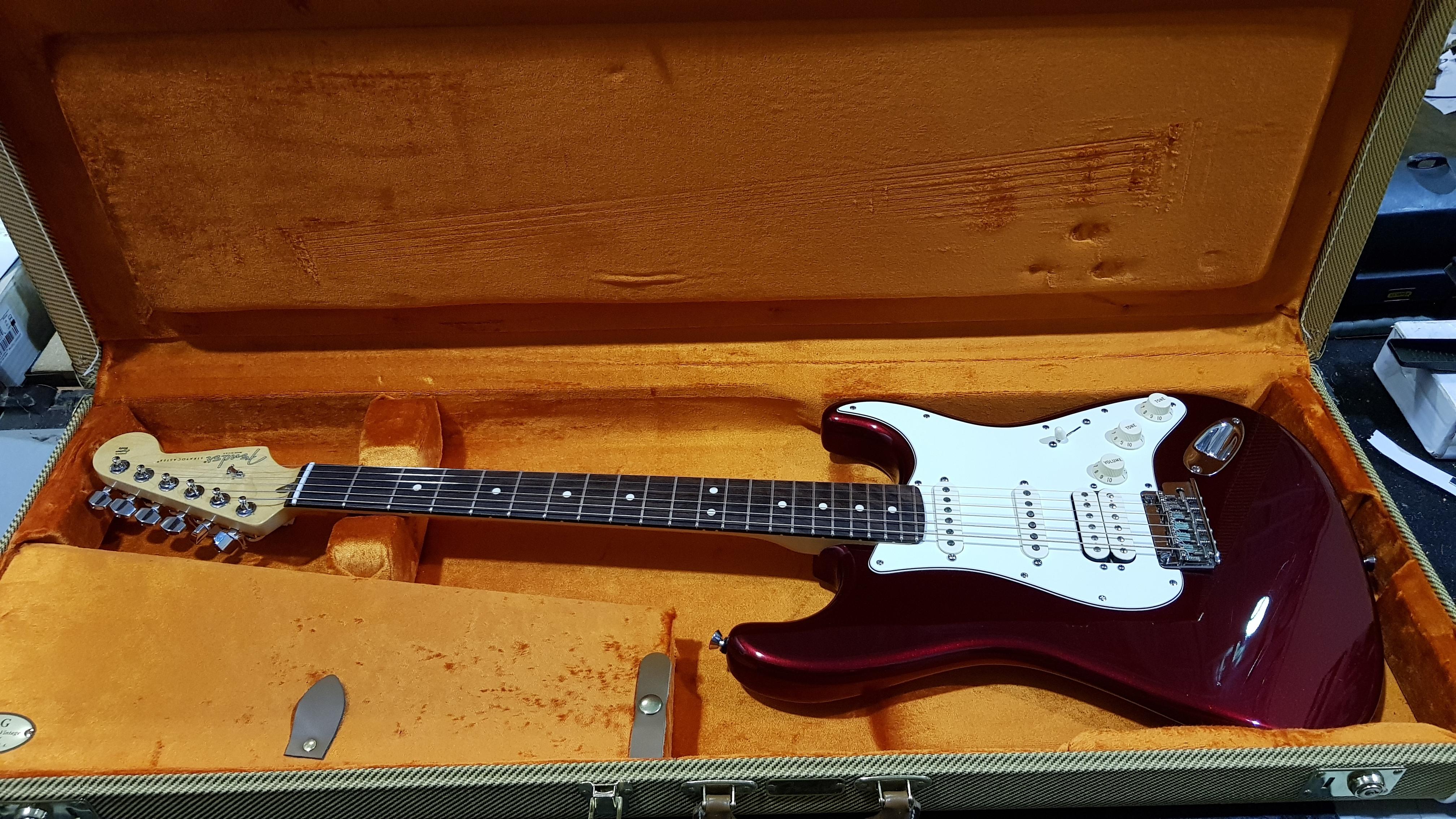 2015 FENDER AMERICAN STANDARD STRATOCASTER HSS Electric Guitar **HSC**