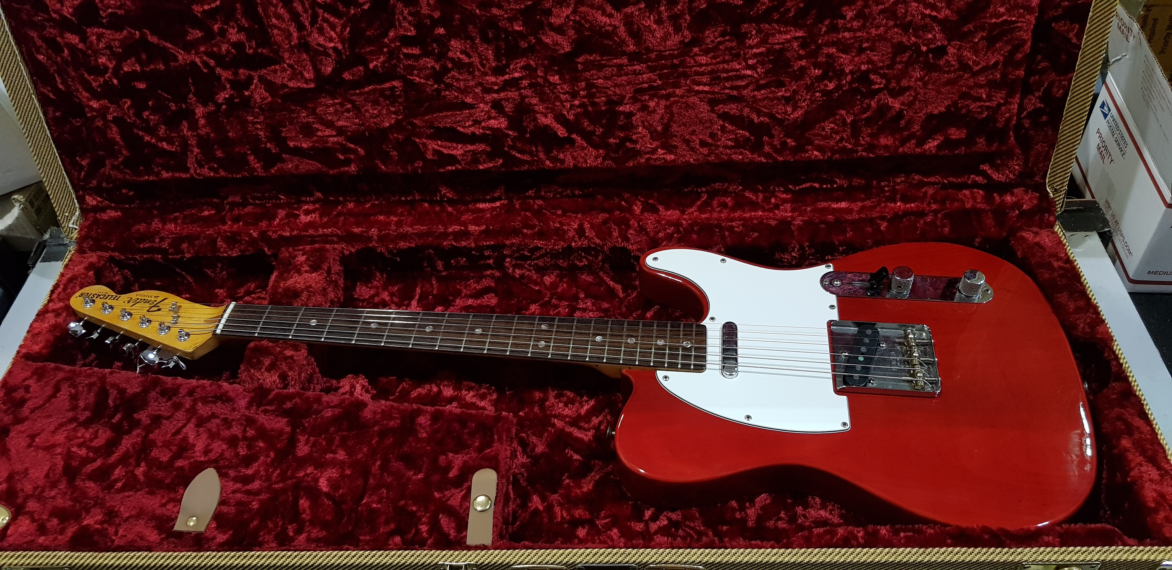 1978 FENDER TELECASTER Electric Guitar **HSC** Refinished Red!