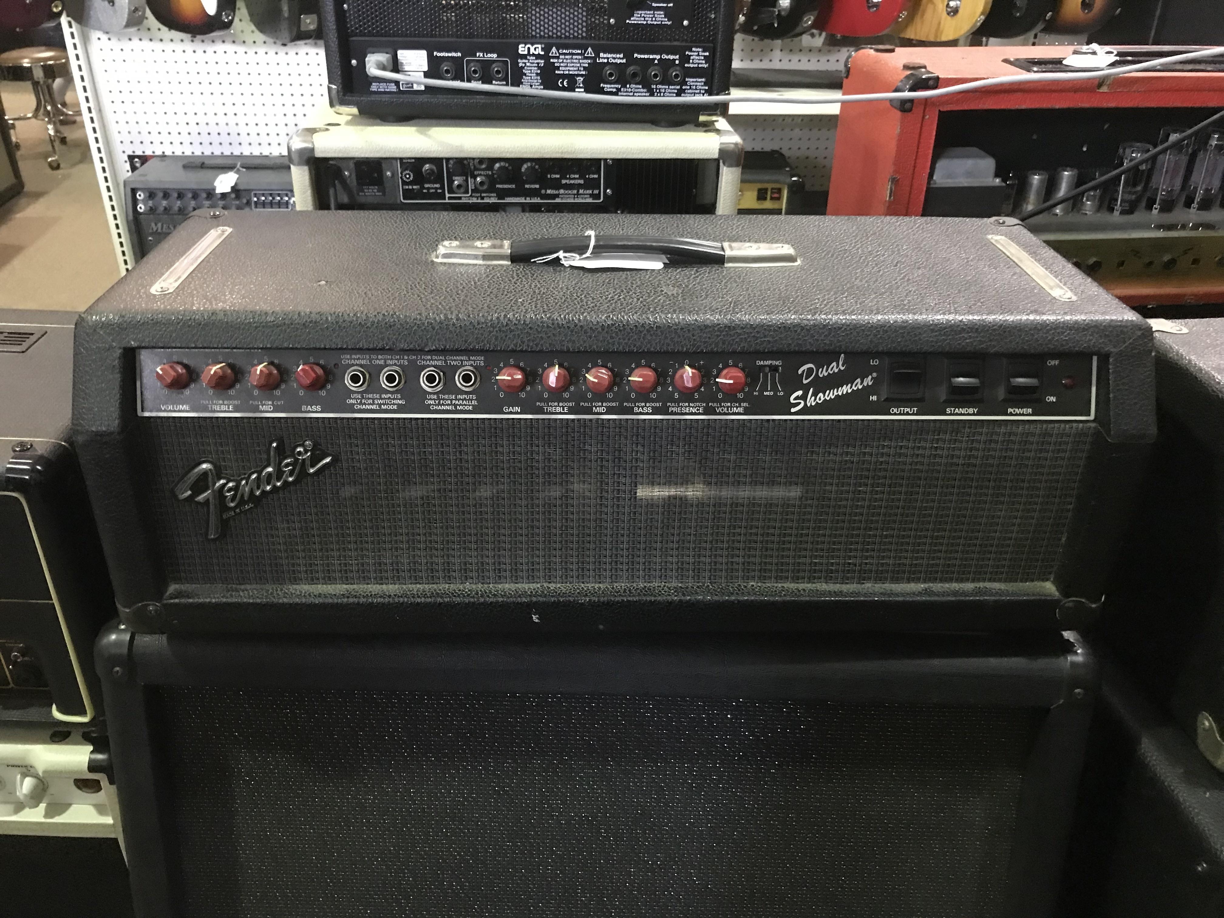 FENDER DUAL SHOWMAN SR Red Knob 100W Tube Guitar Amp Head