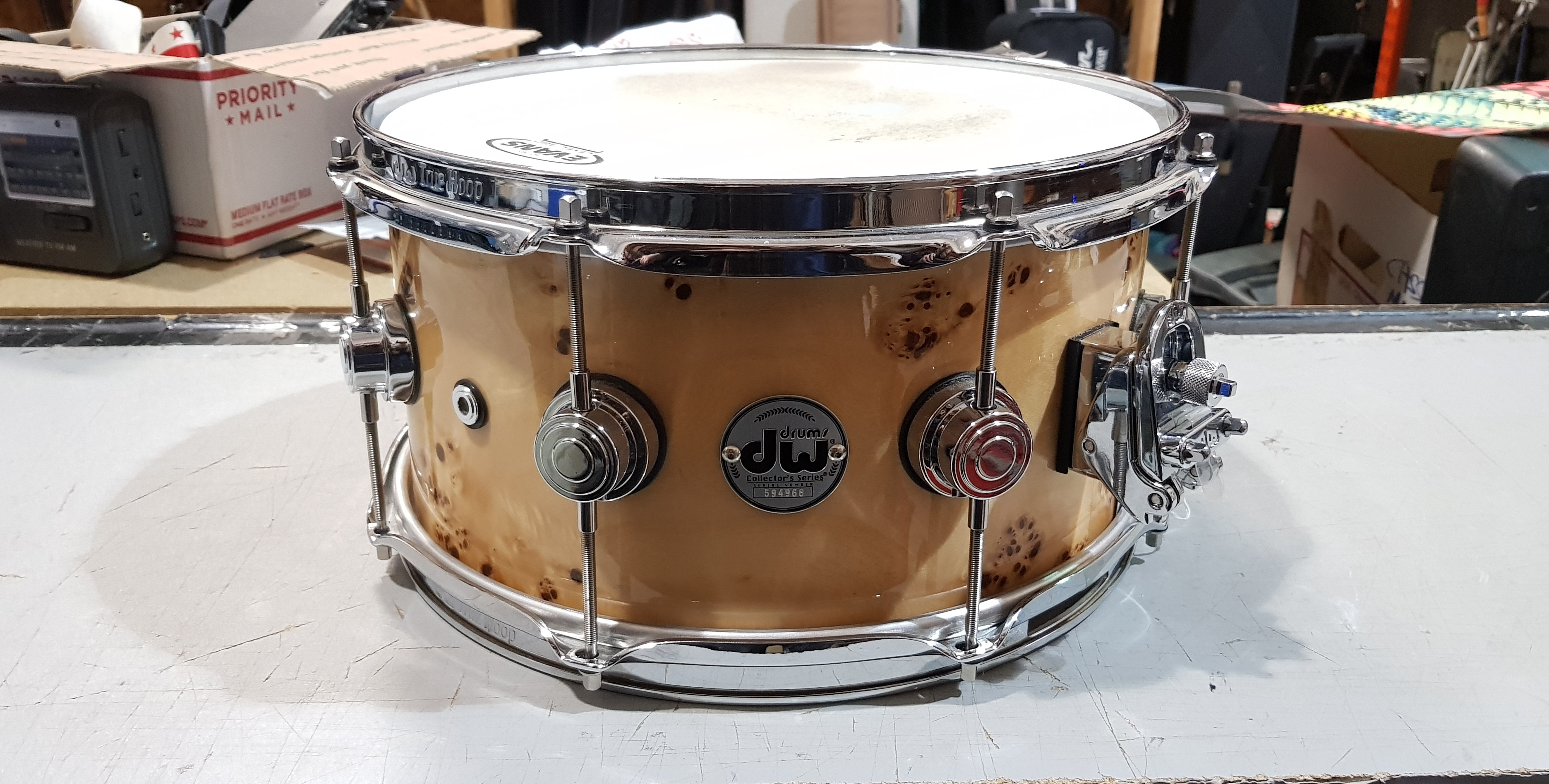 DW SUPER SOLID Collector's Series Cherry/Walnut Snare Drum 13