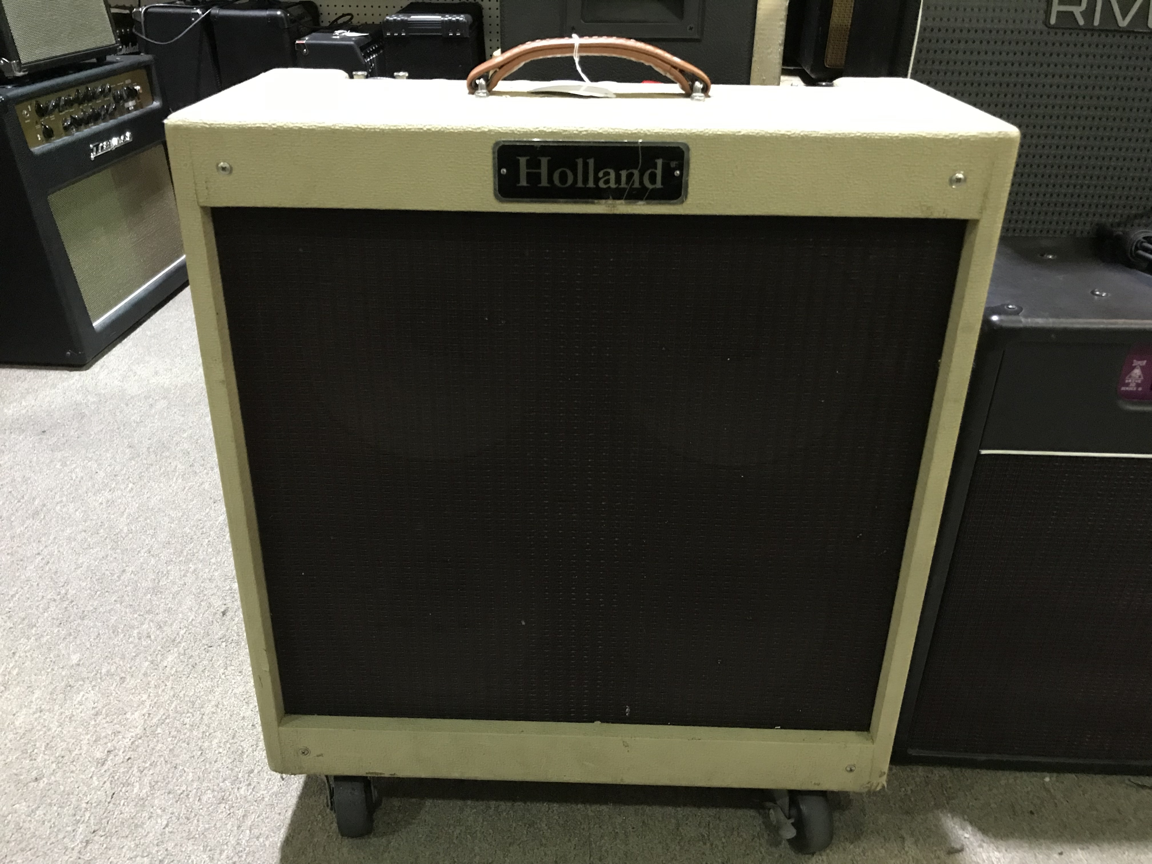HOLLAND GIBB DROLL REVERB 50W 4X10 Blonde Tube Combo Amp