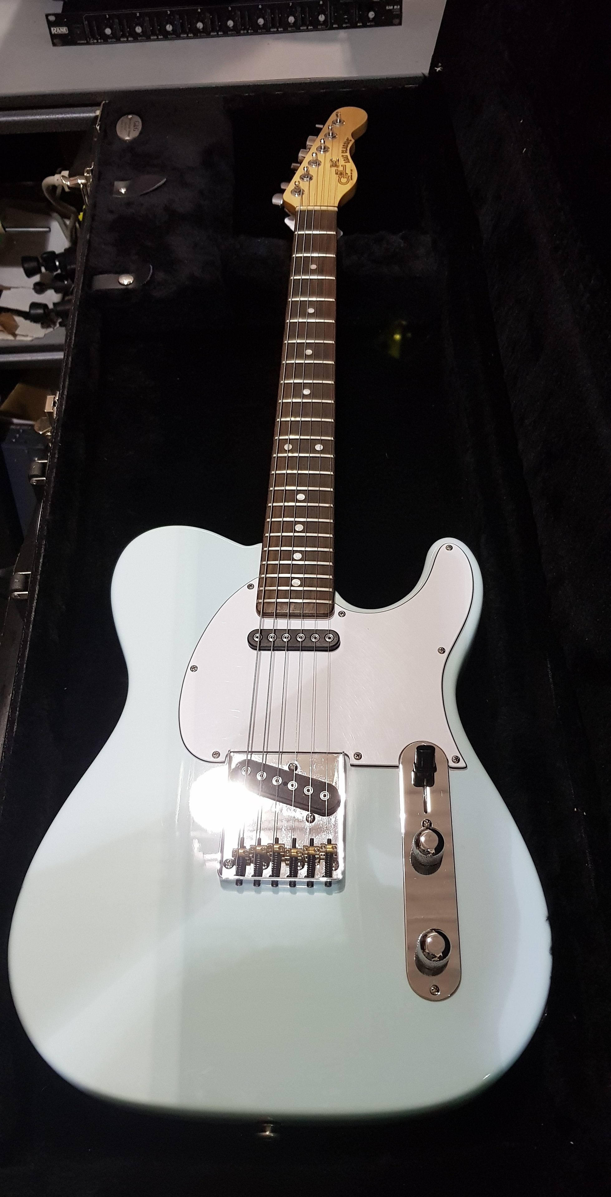 2015 G&L ASAT CLASSIC CUSTOM Electric Guitar **HSC** Sonic Blue