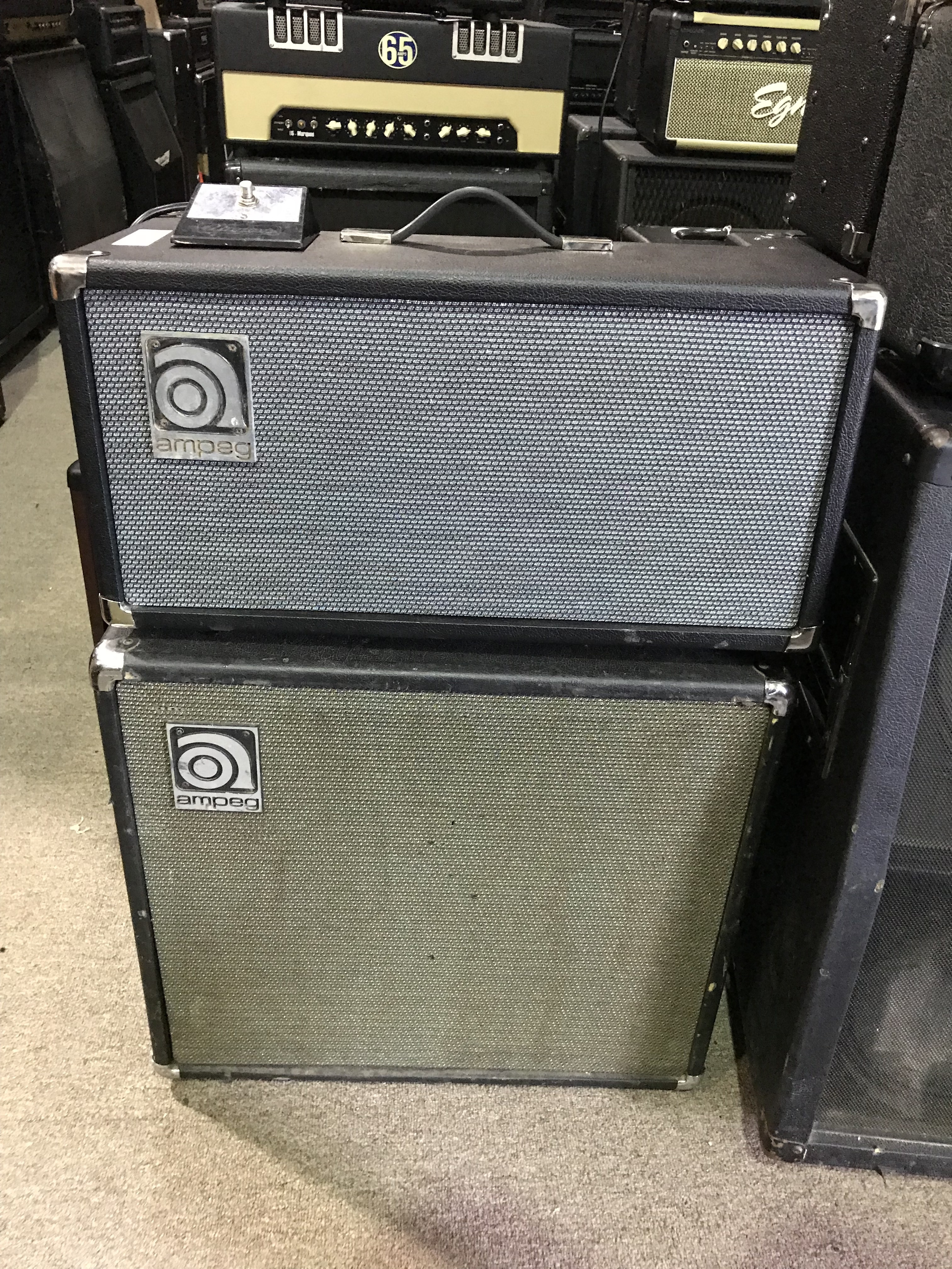 AMPEG VT-40 60W 4X10 Tube Guitar Amp Head and Cab