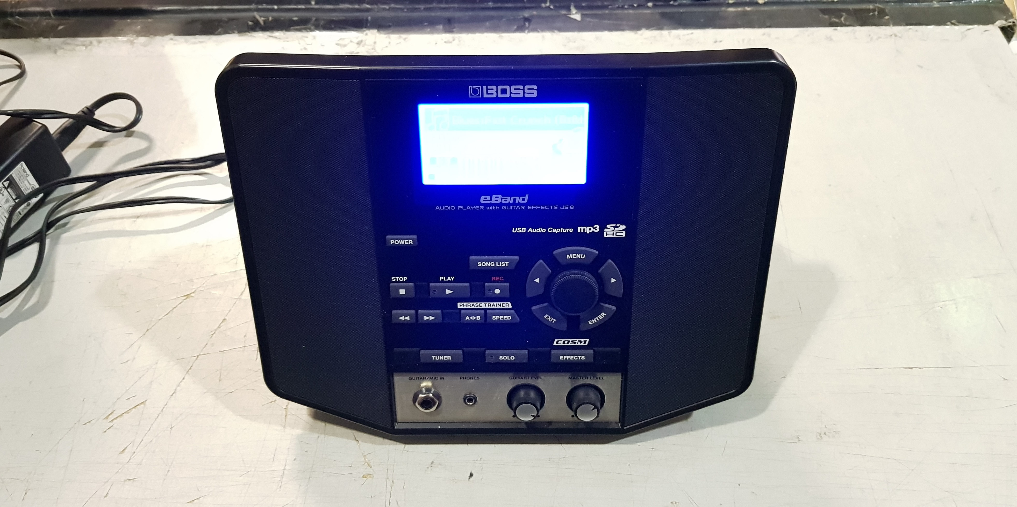 BOSS eBand JS-8 Audio Player Guitar Trainer with Power Supply
