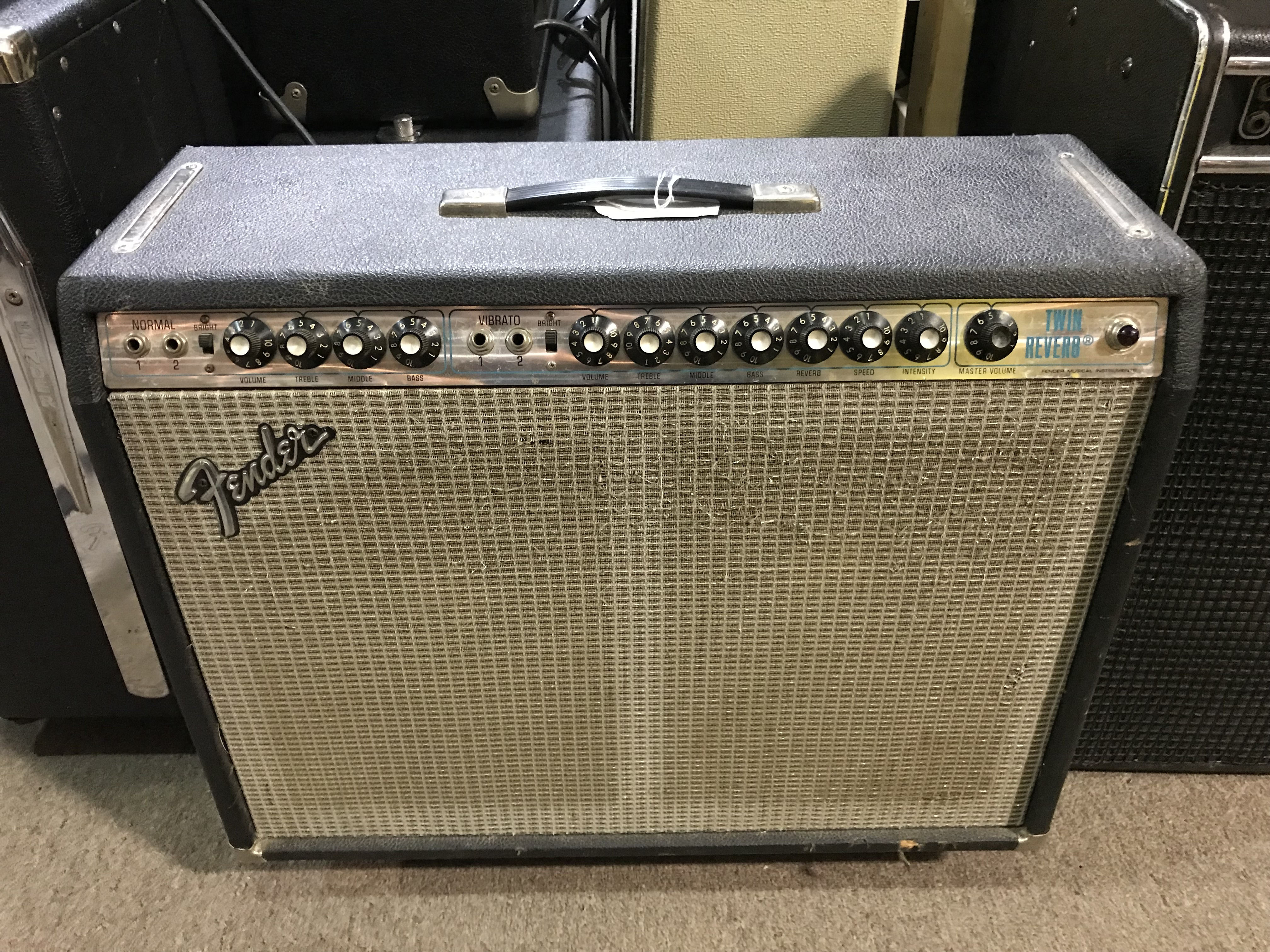 FENDER TWIN REVERB 1974 Silverface 85W 2X12 Tube Guitar Combo Amp LOCAL PICKUP