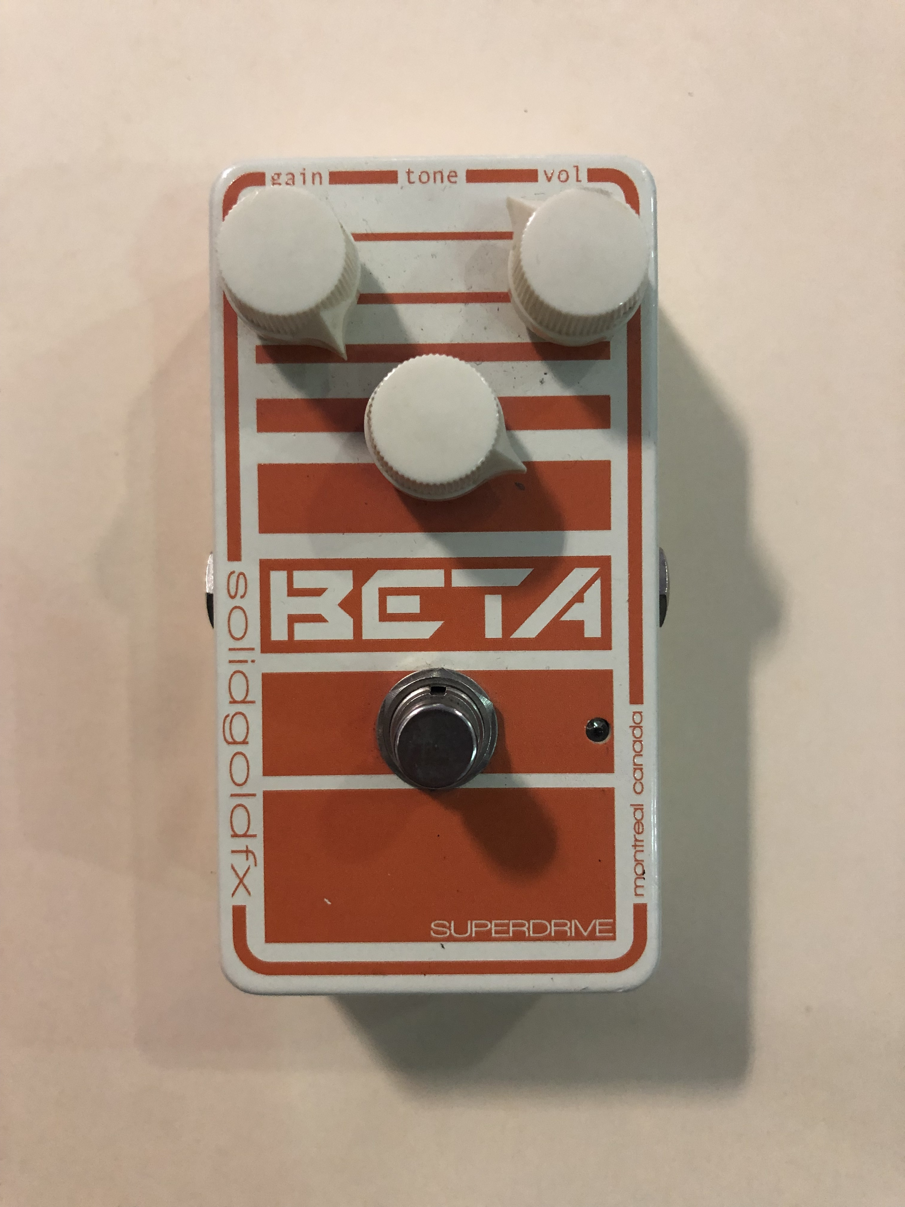 SOLIDGOLD FX - BETA MKII - BASS OVERDRIVE EFFECTS PEDAL