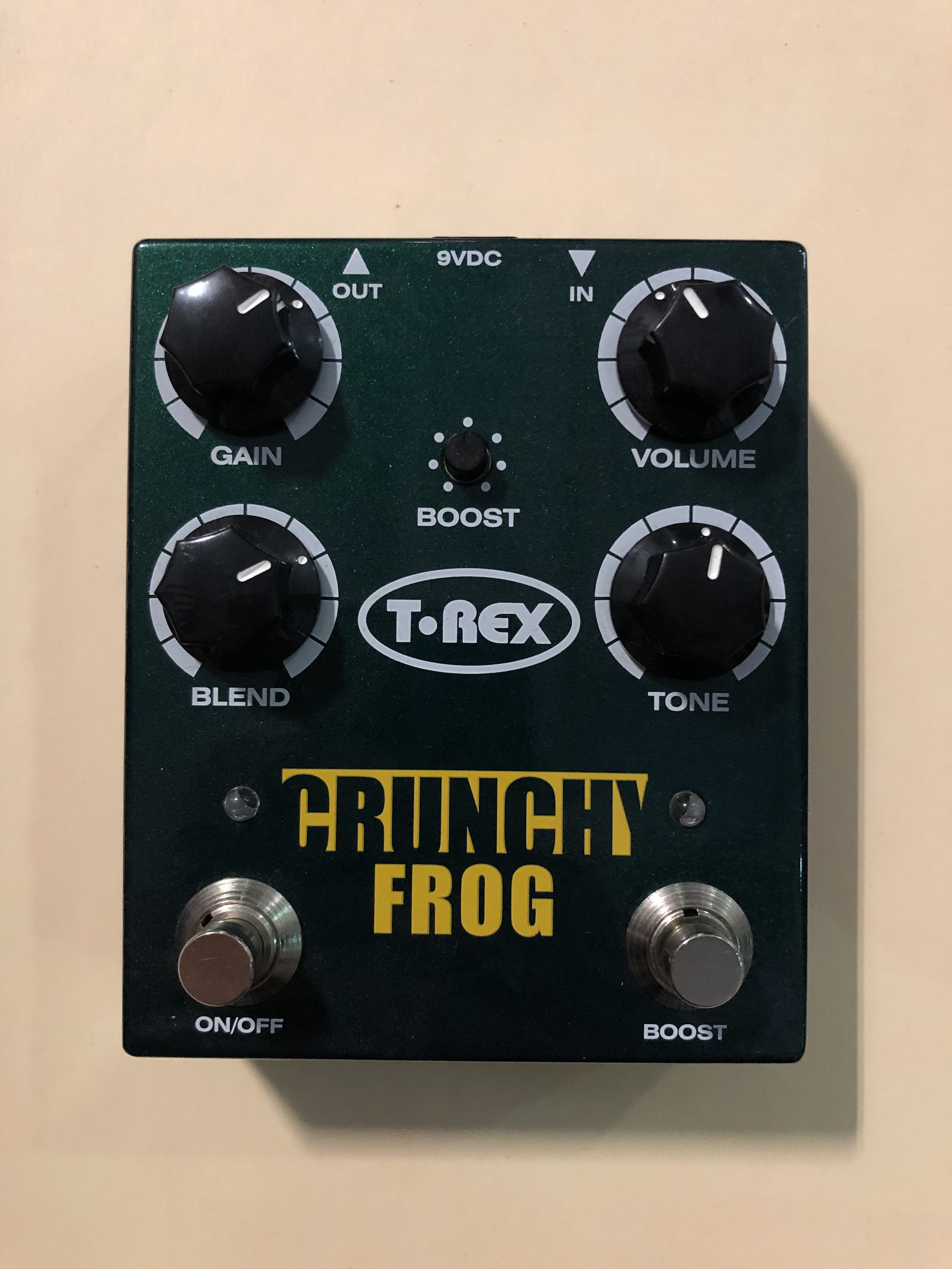 T-REX - CRUNCHY FROG - OVERDRIVE EFFECTS PEDAL