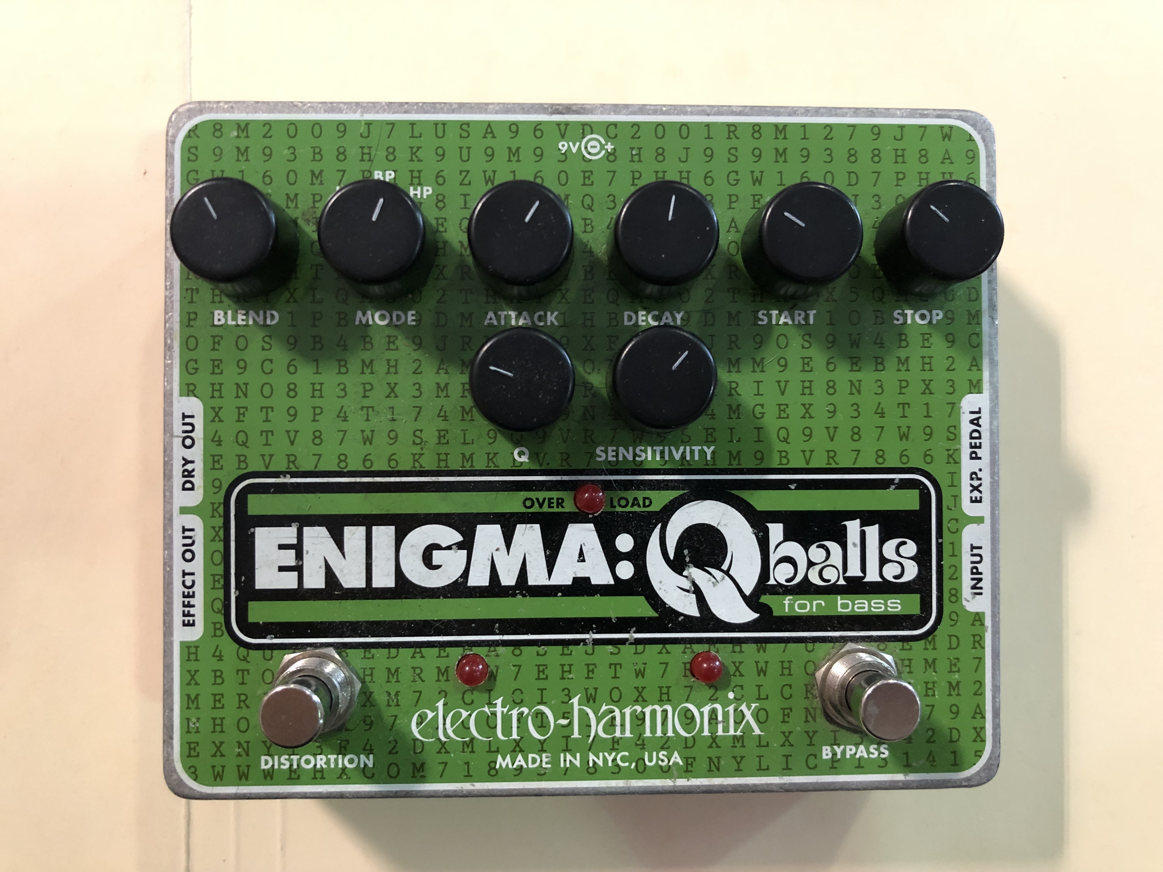 ELECTRO-HARMONIX - ENIGMA Q BALLS - ENVELOPE FILTER EFFECTS PEDAL