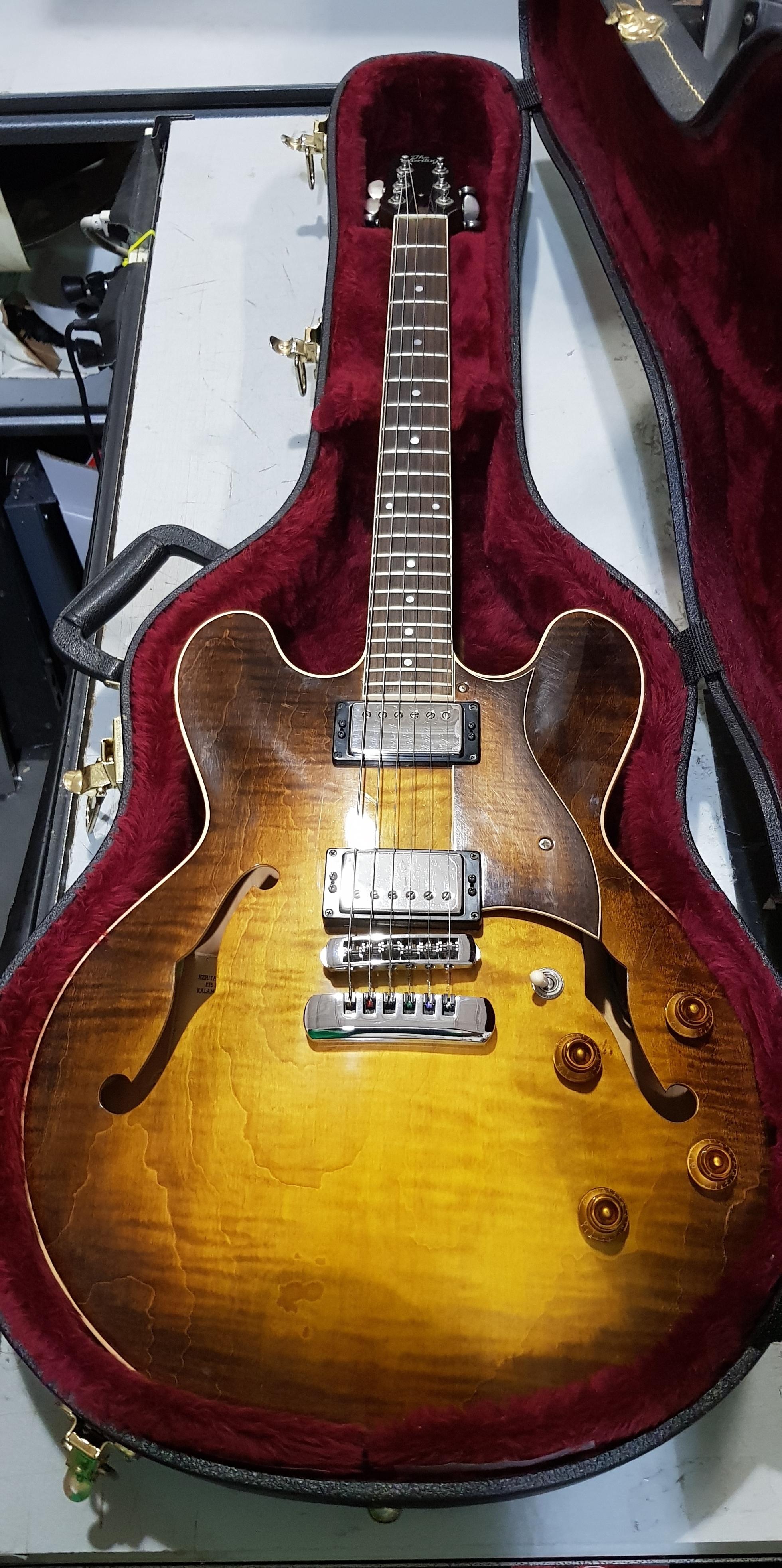 1996 HERITAGE H-535 Semi-Hollow Body Electric Guitar **HSC** Antique Sunburst